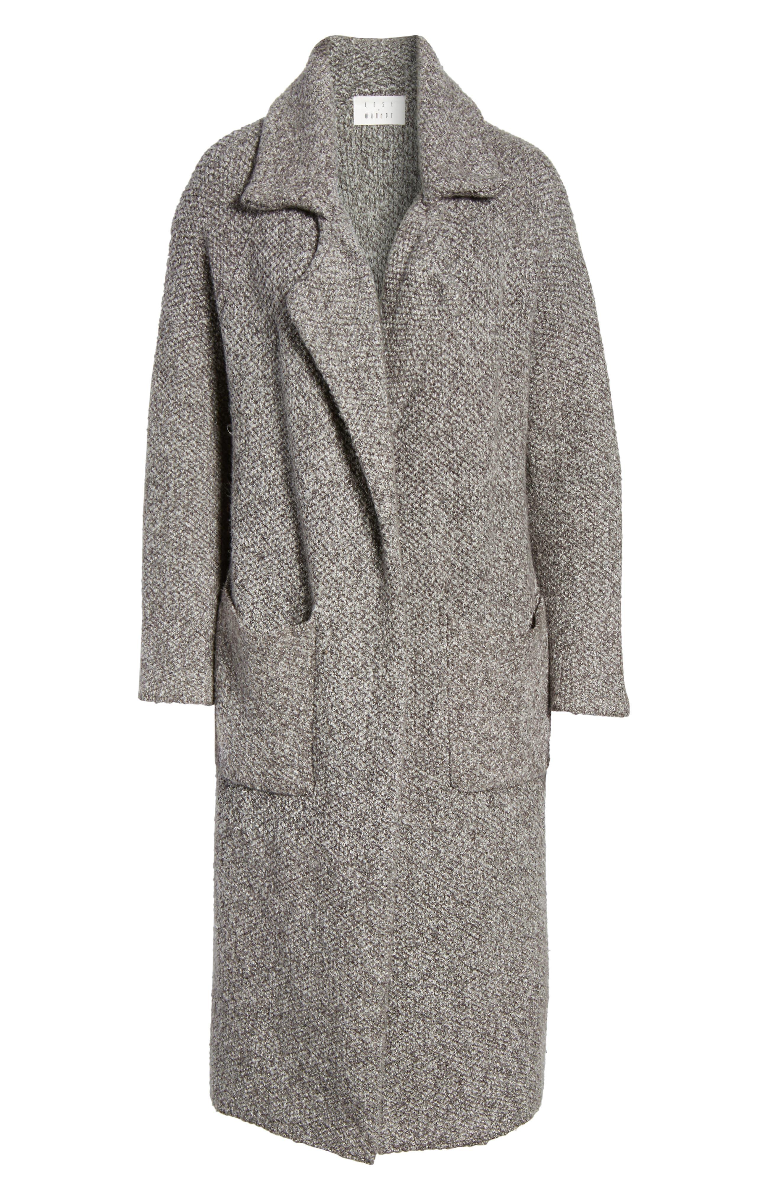 Kala Knit Sweater Jacket,                             Alternate thumbnail 6, color,                             Grey