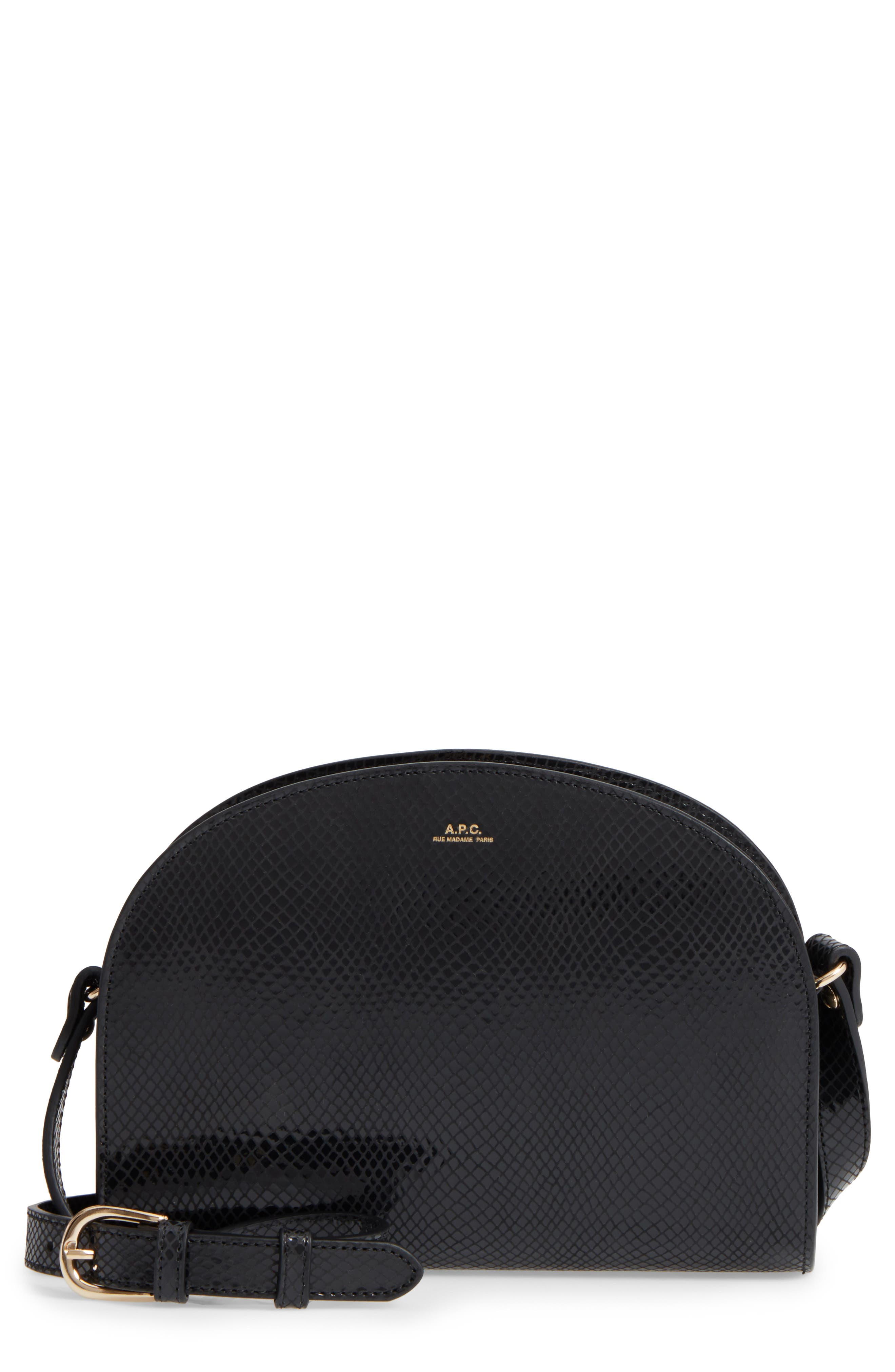 Sale alerts for  Half Moon Leather Crossbody Bag - Covvet