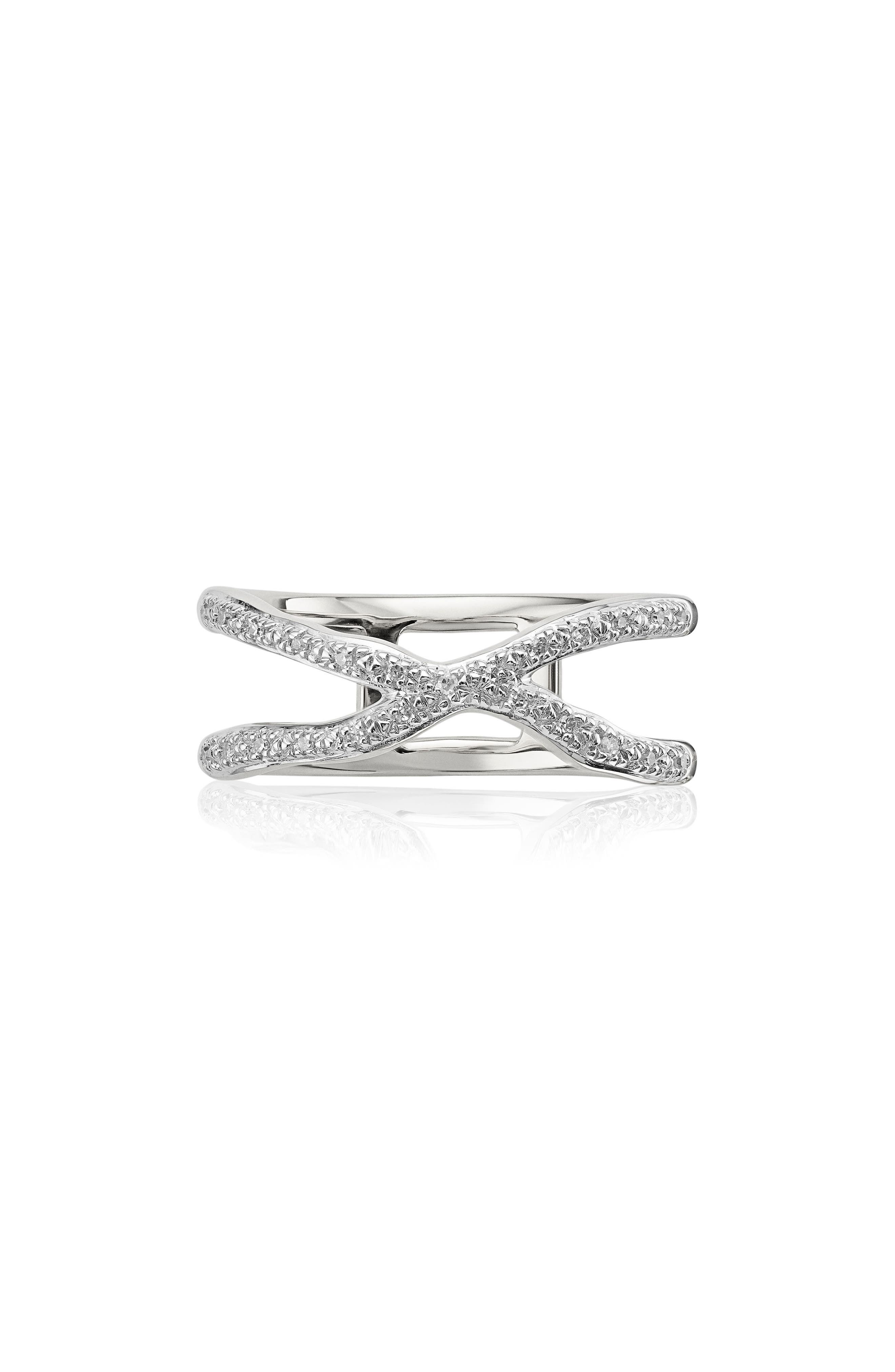 Riva Diamond Ring,                         Main,                         color, Silver/ Diamond
