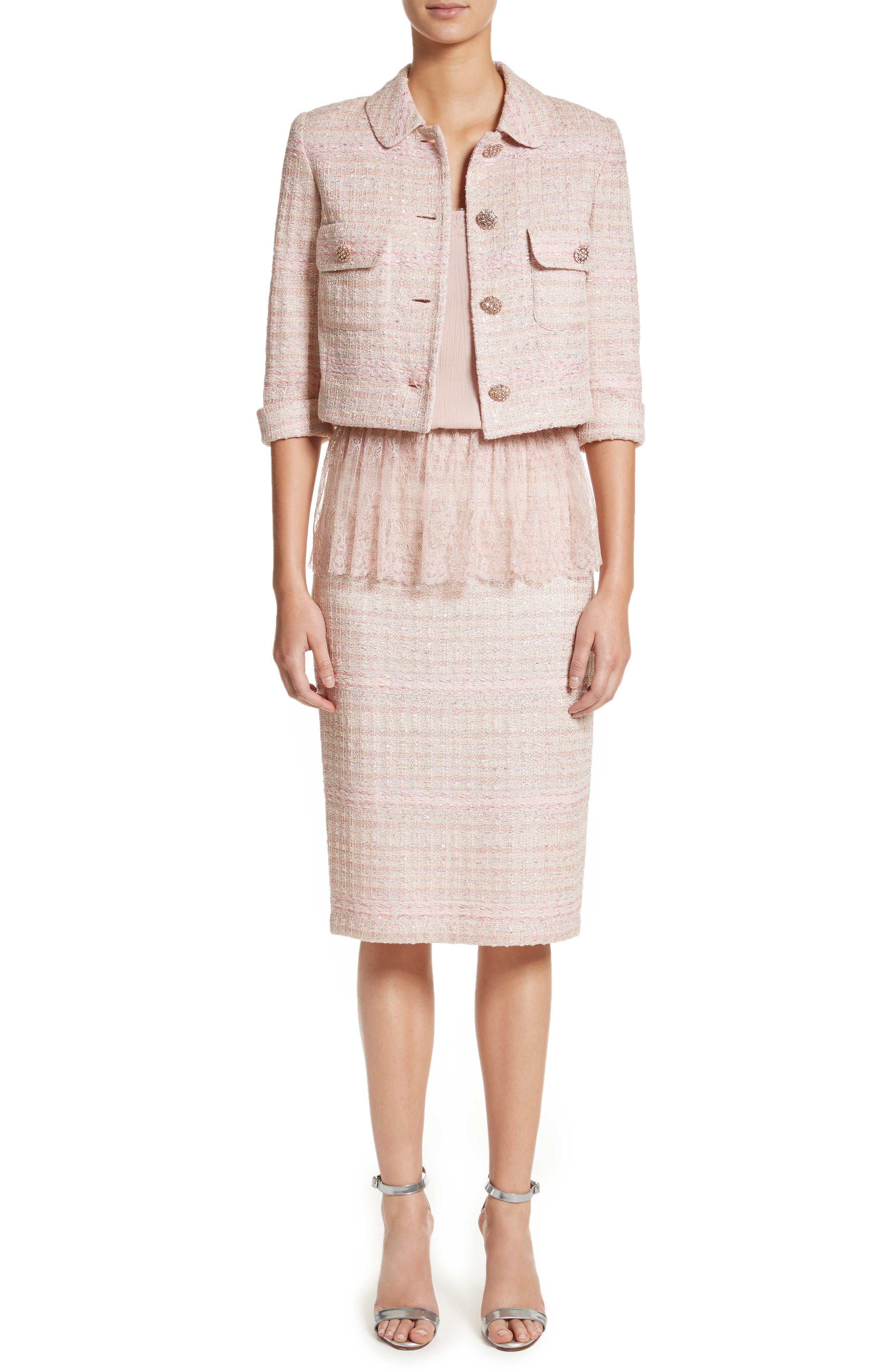 Alternate Image 6  - St. John Collection Guilded Pastel Knit Skirt