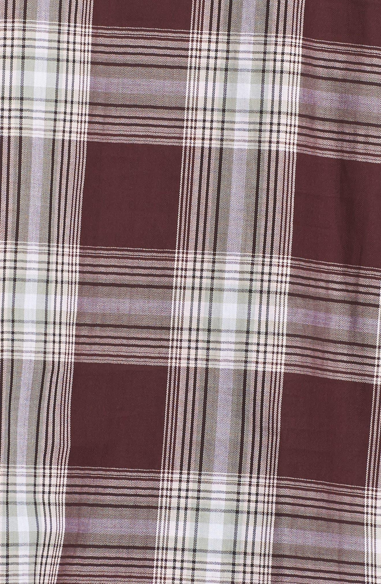 Alternate Image 5  - Foxcroft Addison Plaid Cotton Shirt (Plus Size)