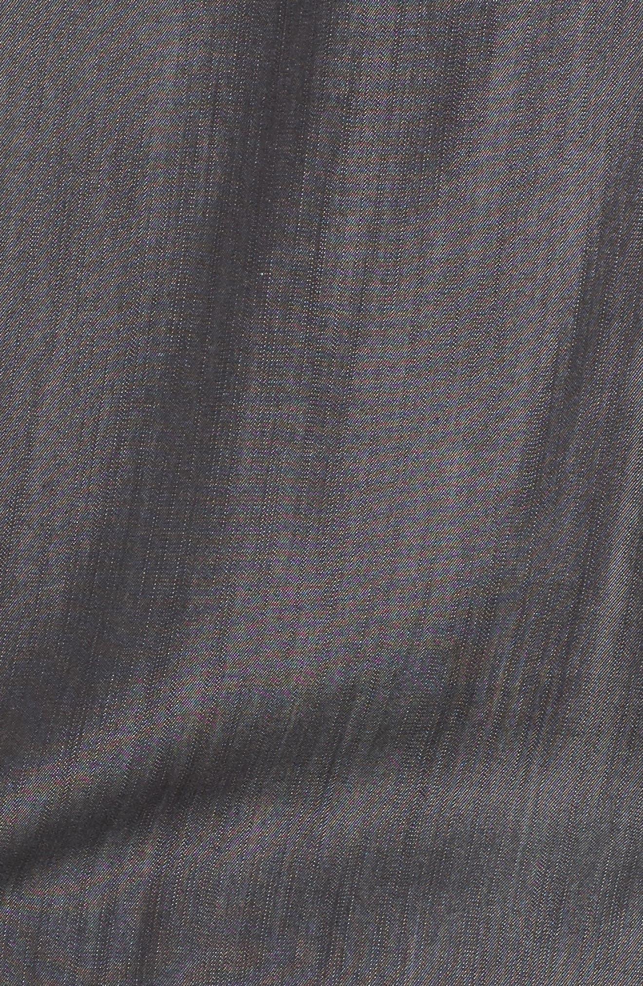 Chambray Tunic,                             Alternate thumbnail 5, color,                             Charcoal