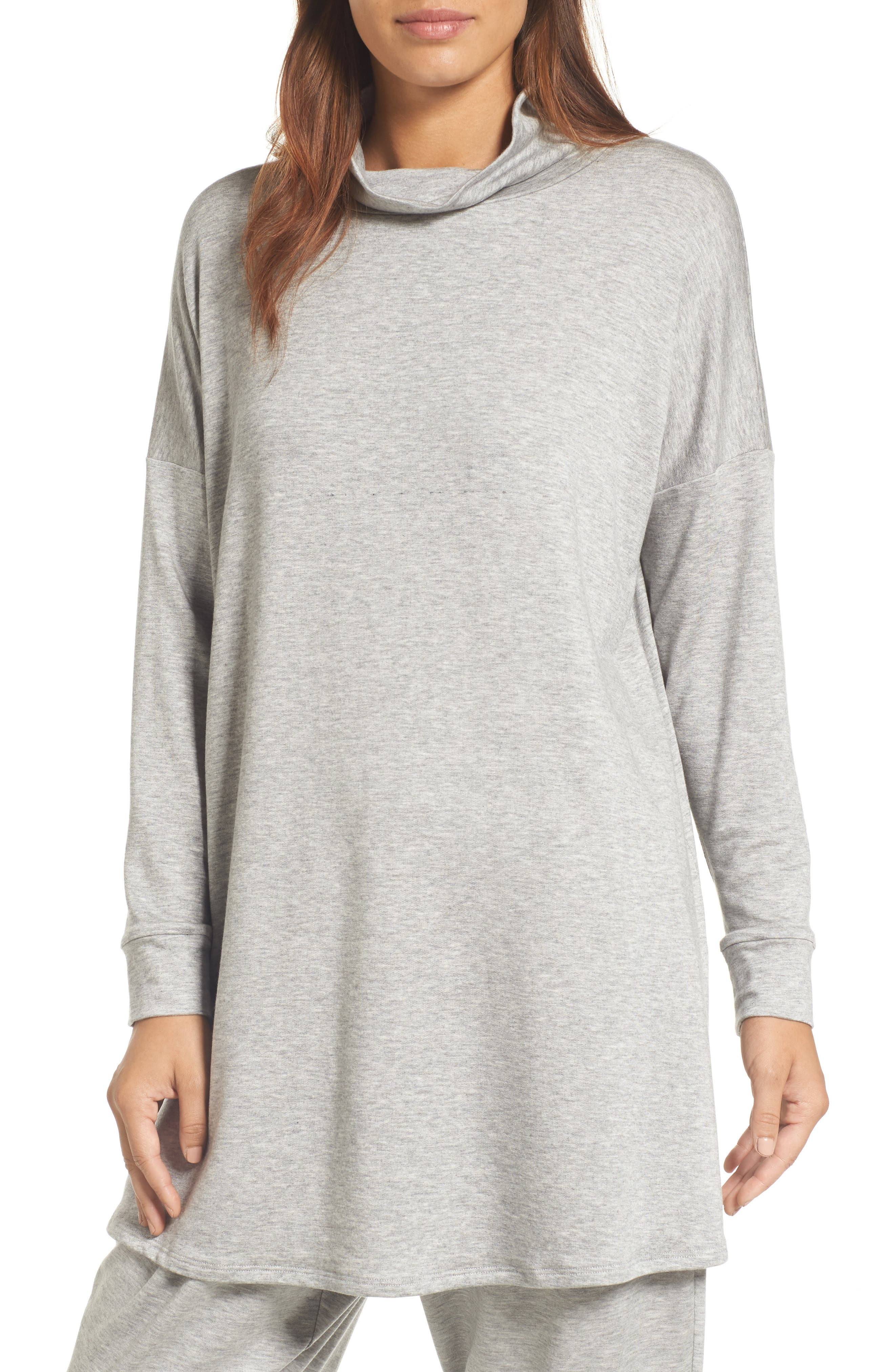 Alternate Image 1 Selected - Eileen Fisher Funnel Neck Knit Tunic