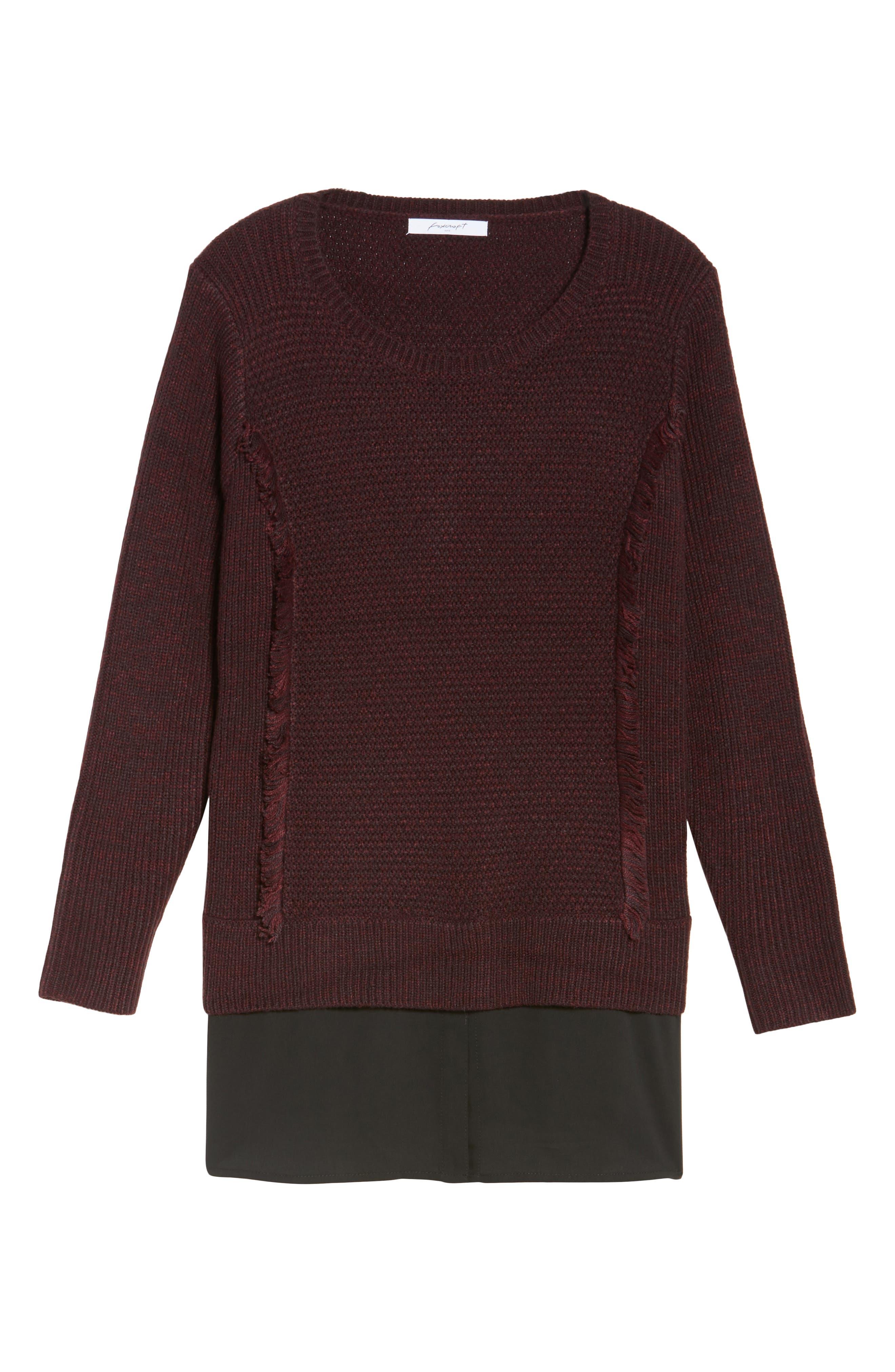 Alternate Image 6  - Foxcroft Sophia Layered Look Sweater (Plus Size)