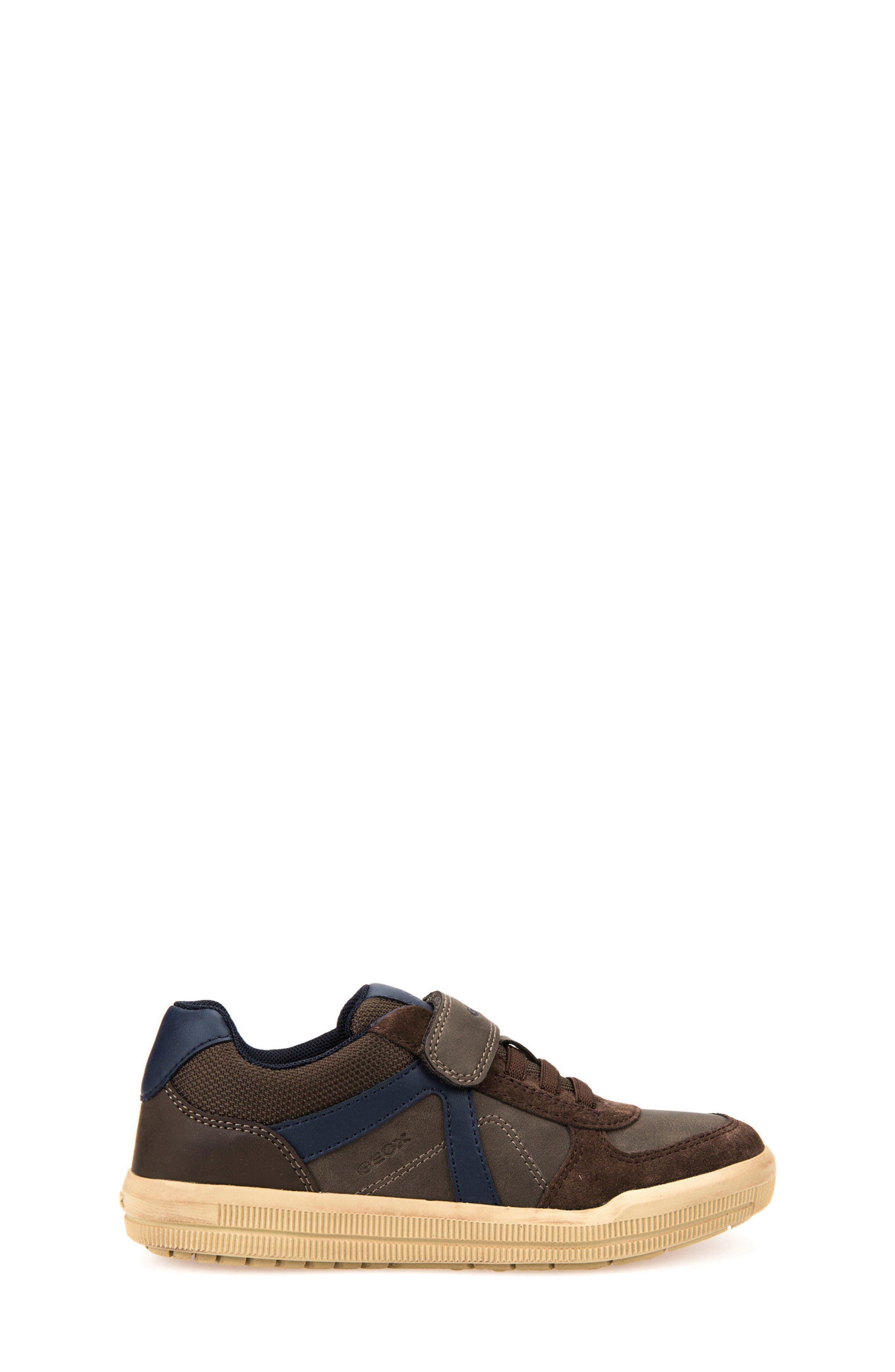Arzach Low Top Sneaker,                             Alternate thumbnail 3, color,                             Brown/ Navy