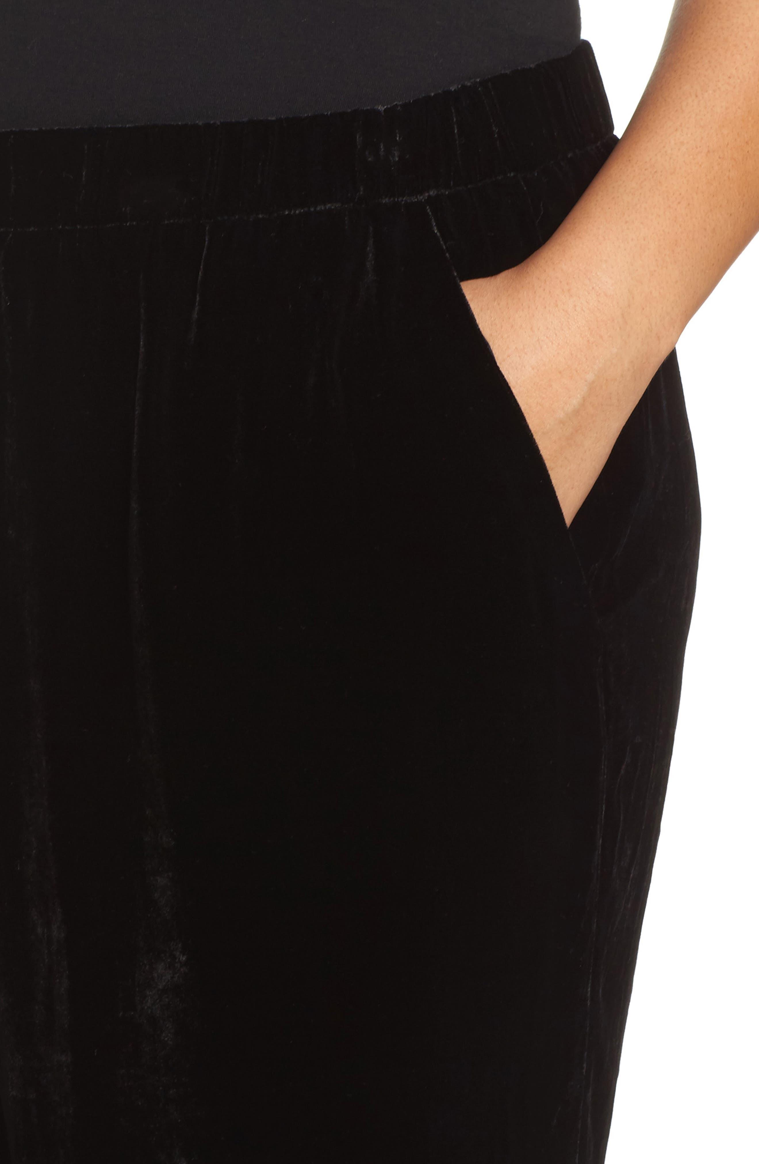 Alternate Image 4  - Eileen Fisher Velvet Ankle Pants (Plus Size)
