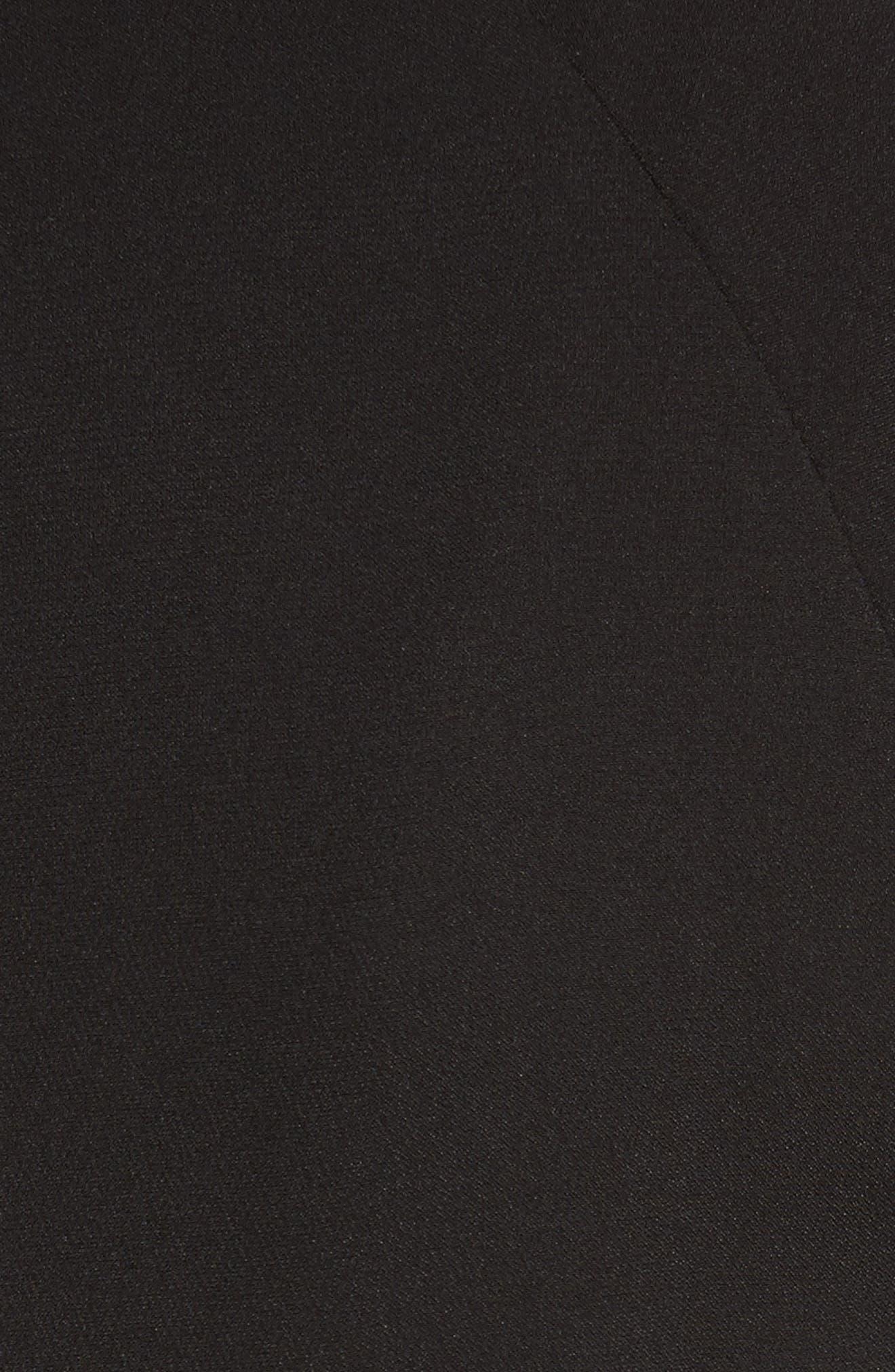 Rauma Silk Dress,                             Alternate thumbnail 6, color,                             Black/ Silver/ Sand/ Ivory