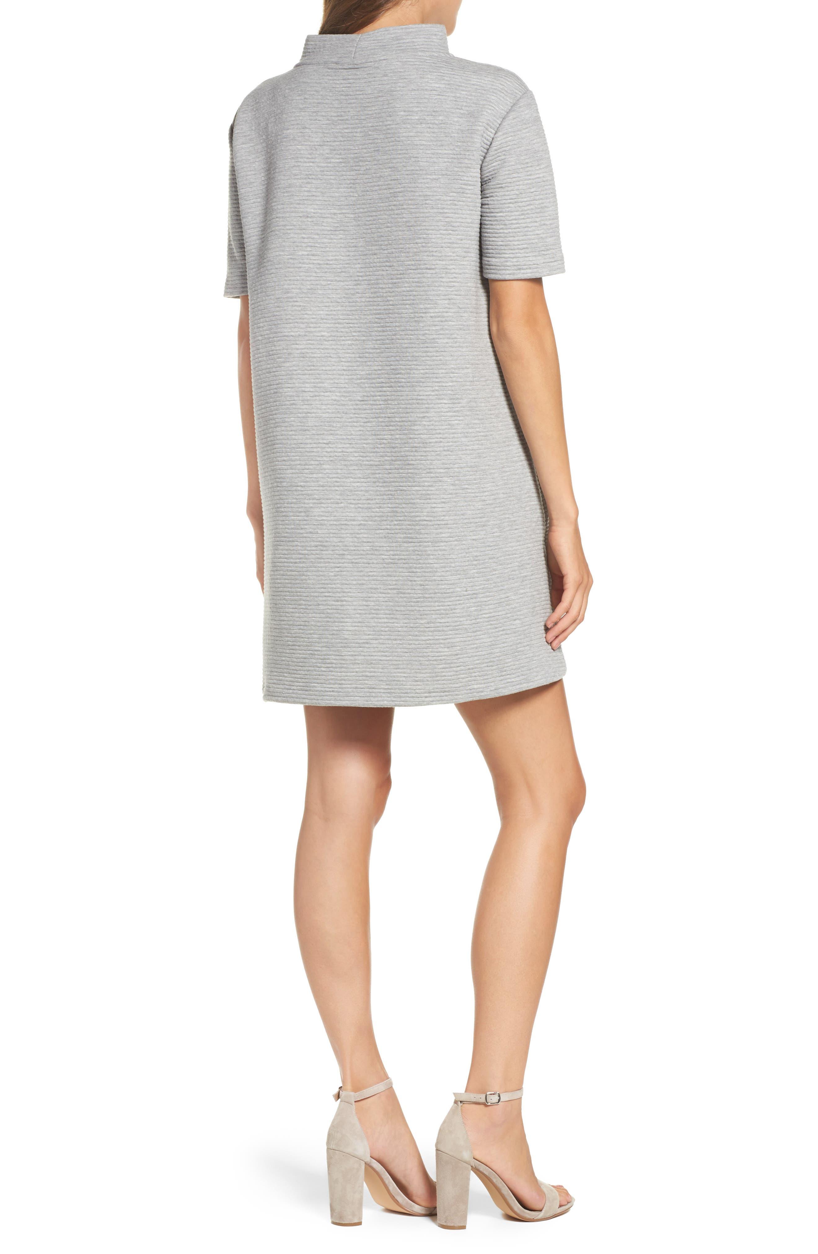 Marian Shift Dress,                             Alternate thumbnail 2, color,                             Light Grey