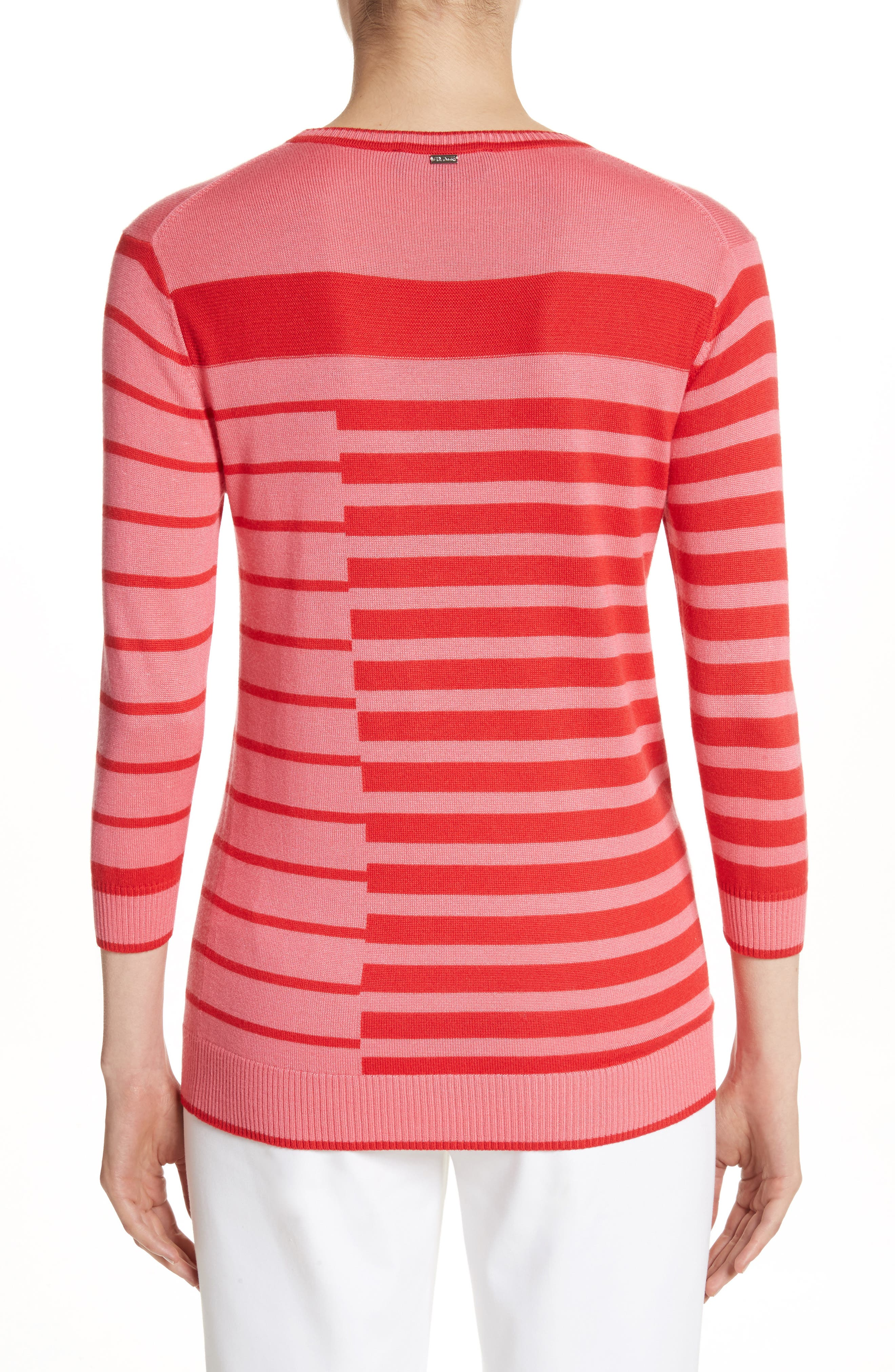Alternate Image 2  - St. John Collection Intarsia Stripe Sweater