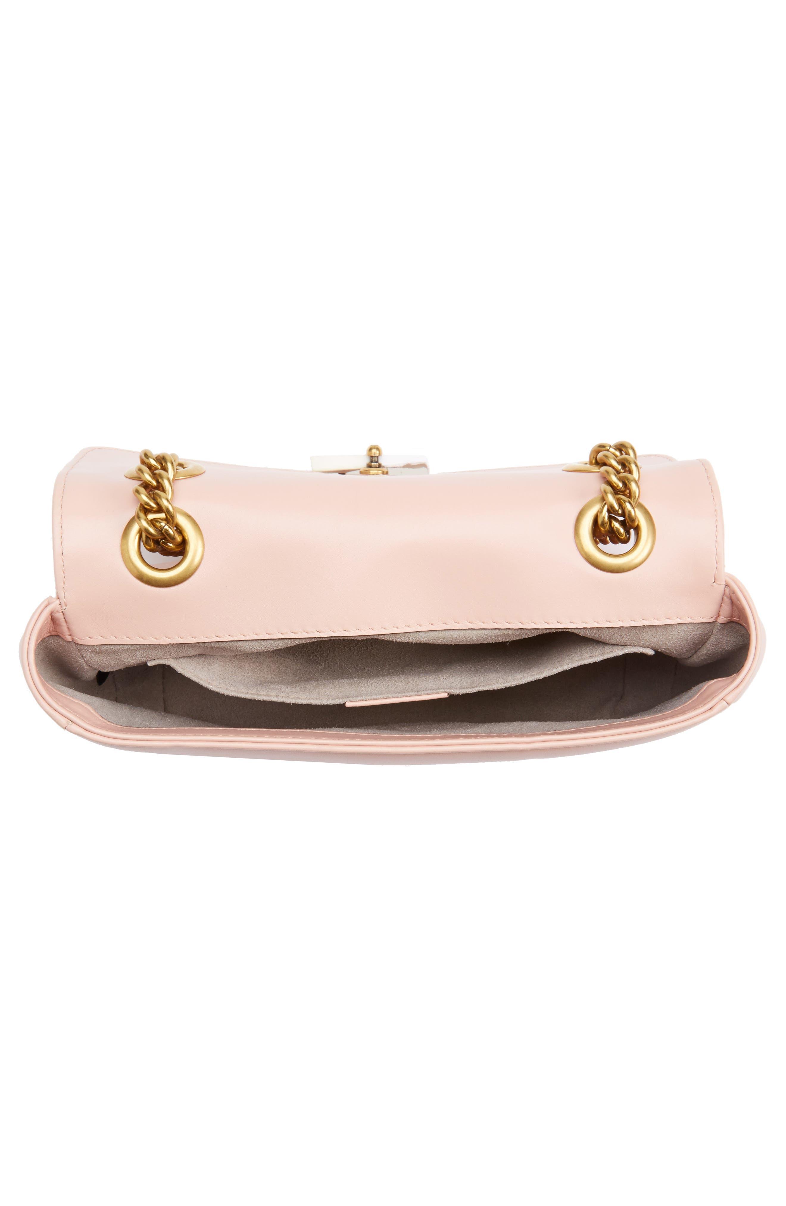 Mini GG Marmont 2.0 Matelassé Leather Shoulder Bag,                             Alternate thumbnail 3, color,                             Perfect Pink