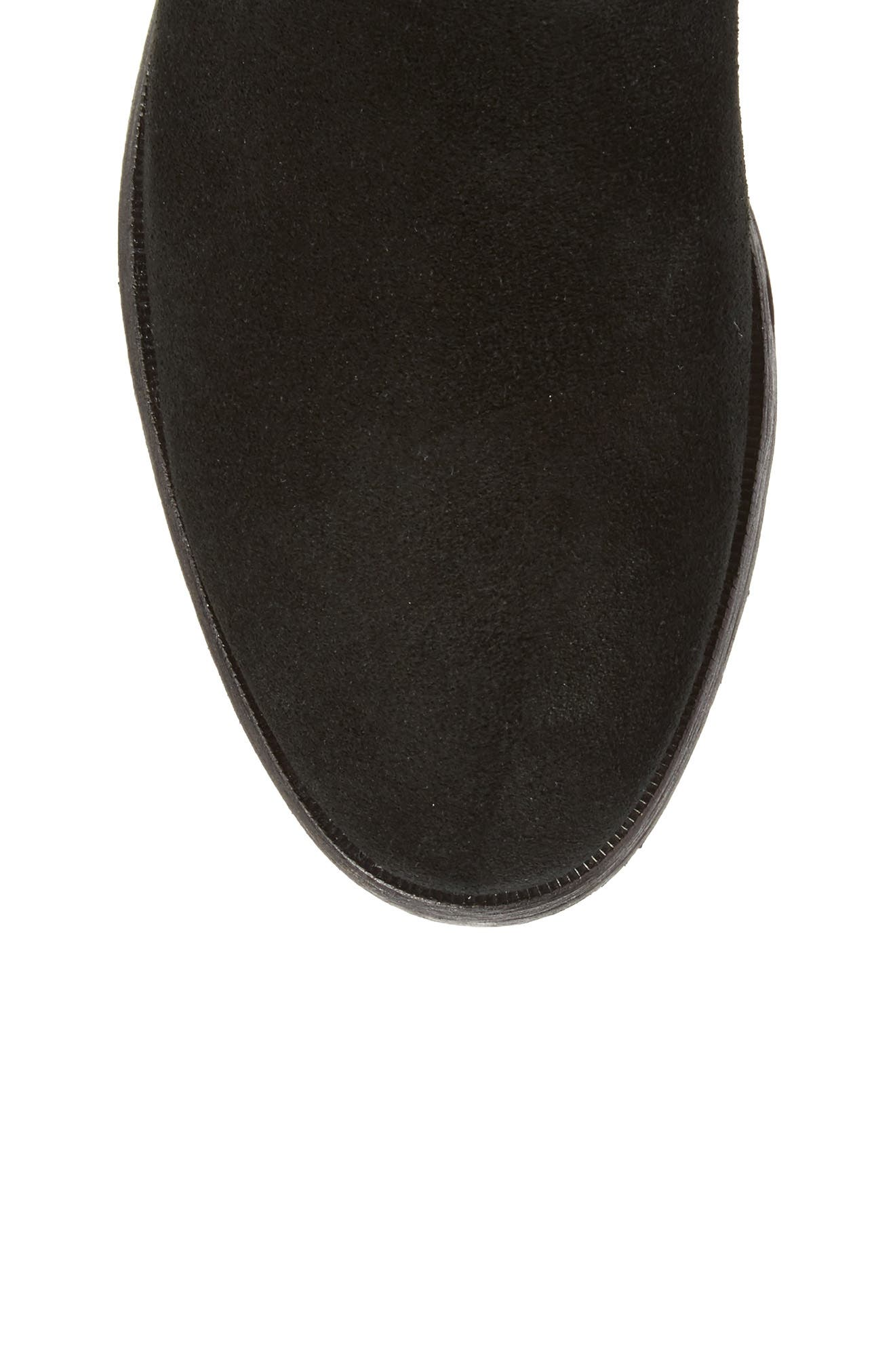 Gracen Knee High Boot,                             Alternate thumbnail 5, color,                             Black Suede