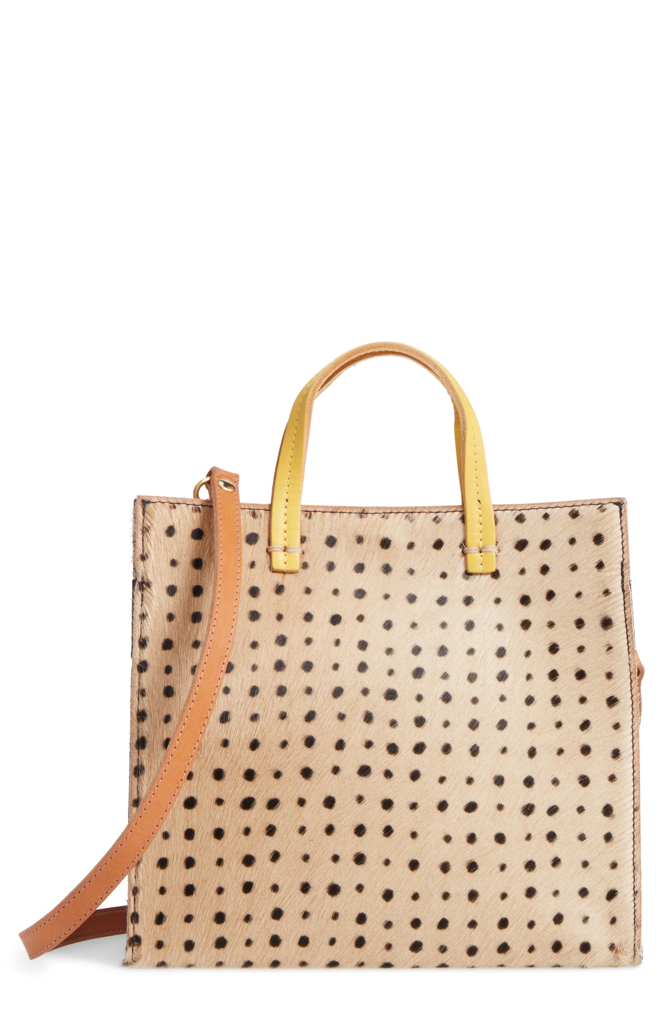 Clare V. Small Petit Simple Genuine Calf Hair Tote