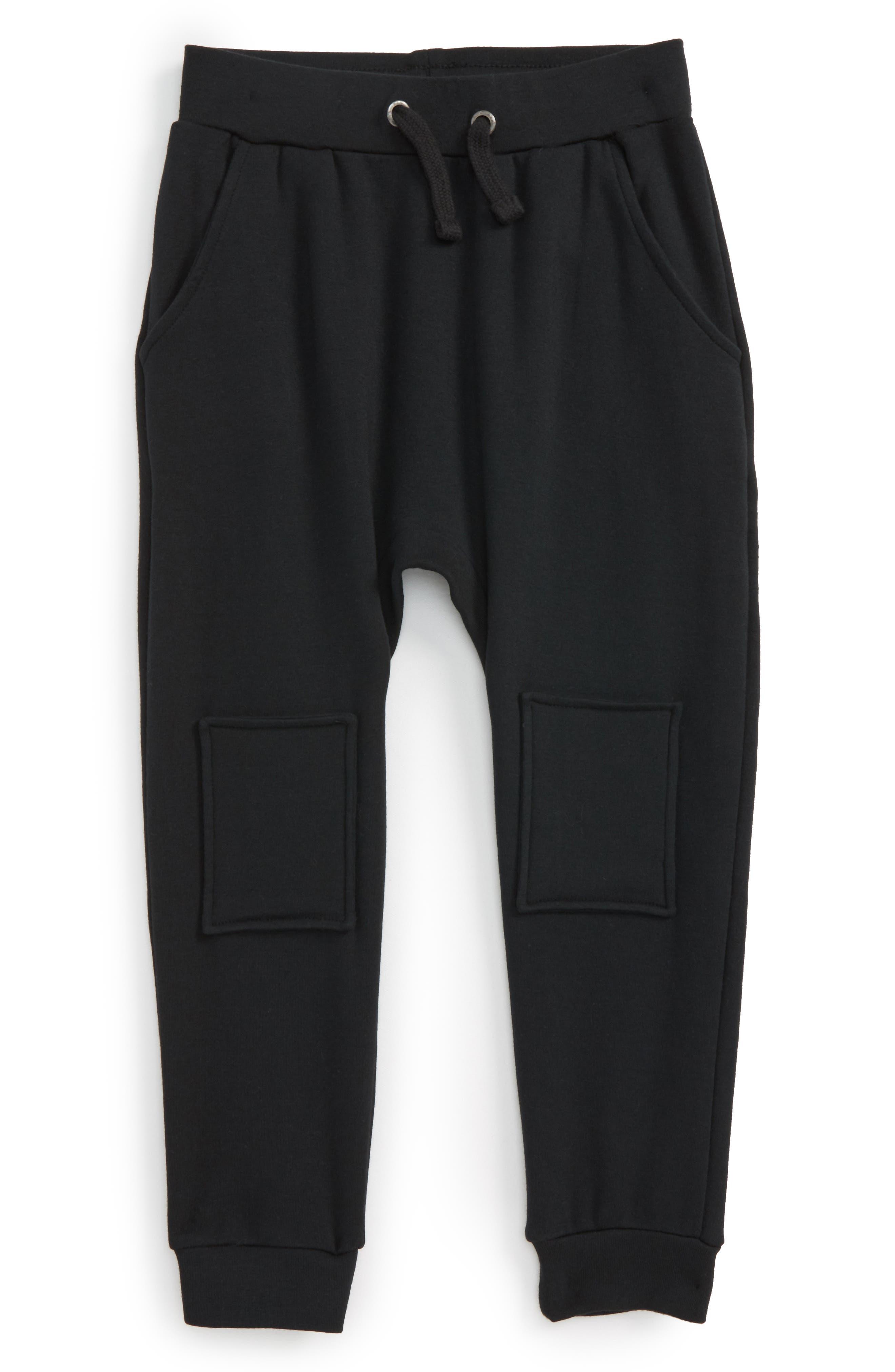 Nirvana Slouchy Track Pants,                         Main,                         color, Black