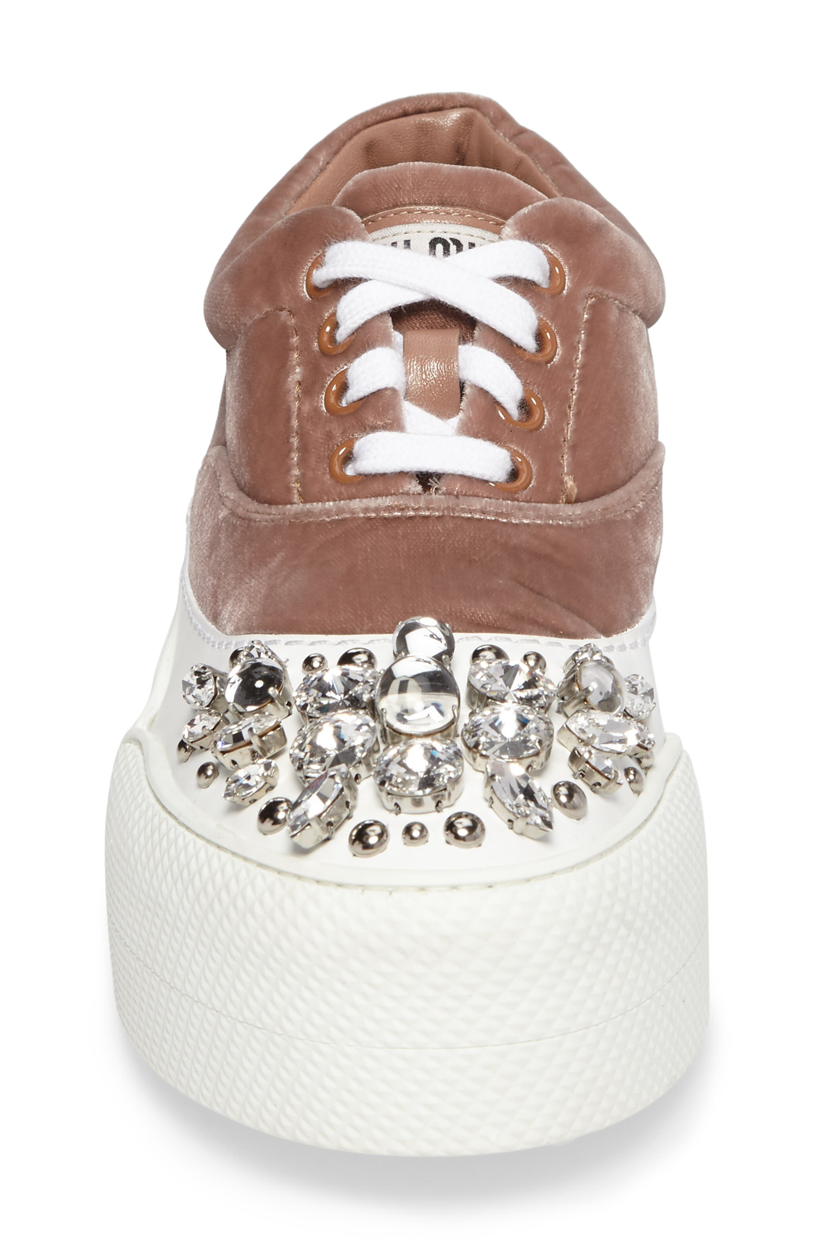 Alternate Image 4  - Miu Miu Embellished Flatform Sneaker (Women)