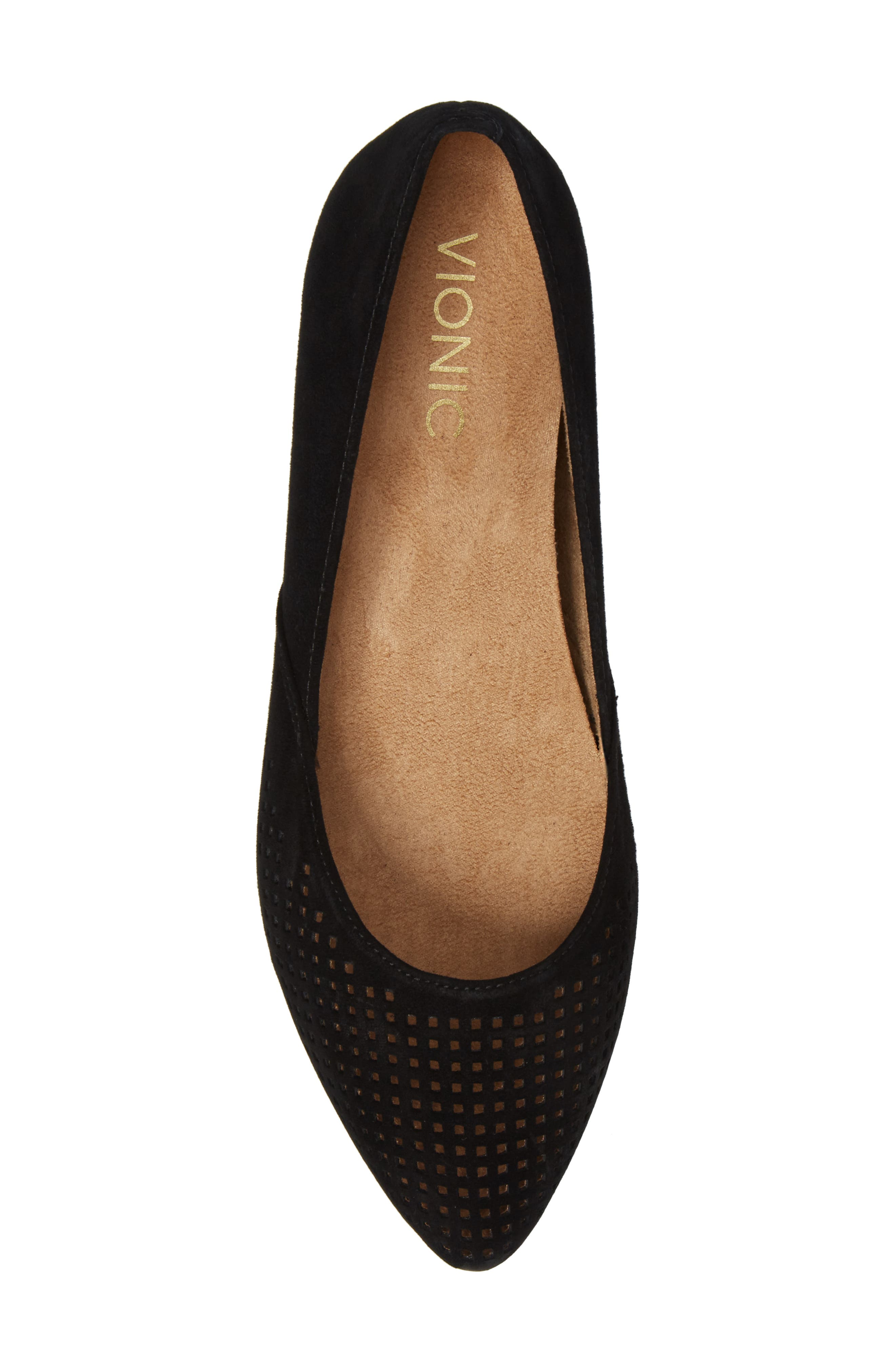 Posey Flat,                             Alternate thumbnail 5, color,                             Black Suede