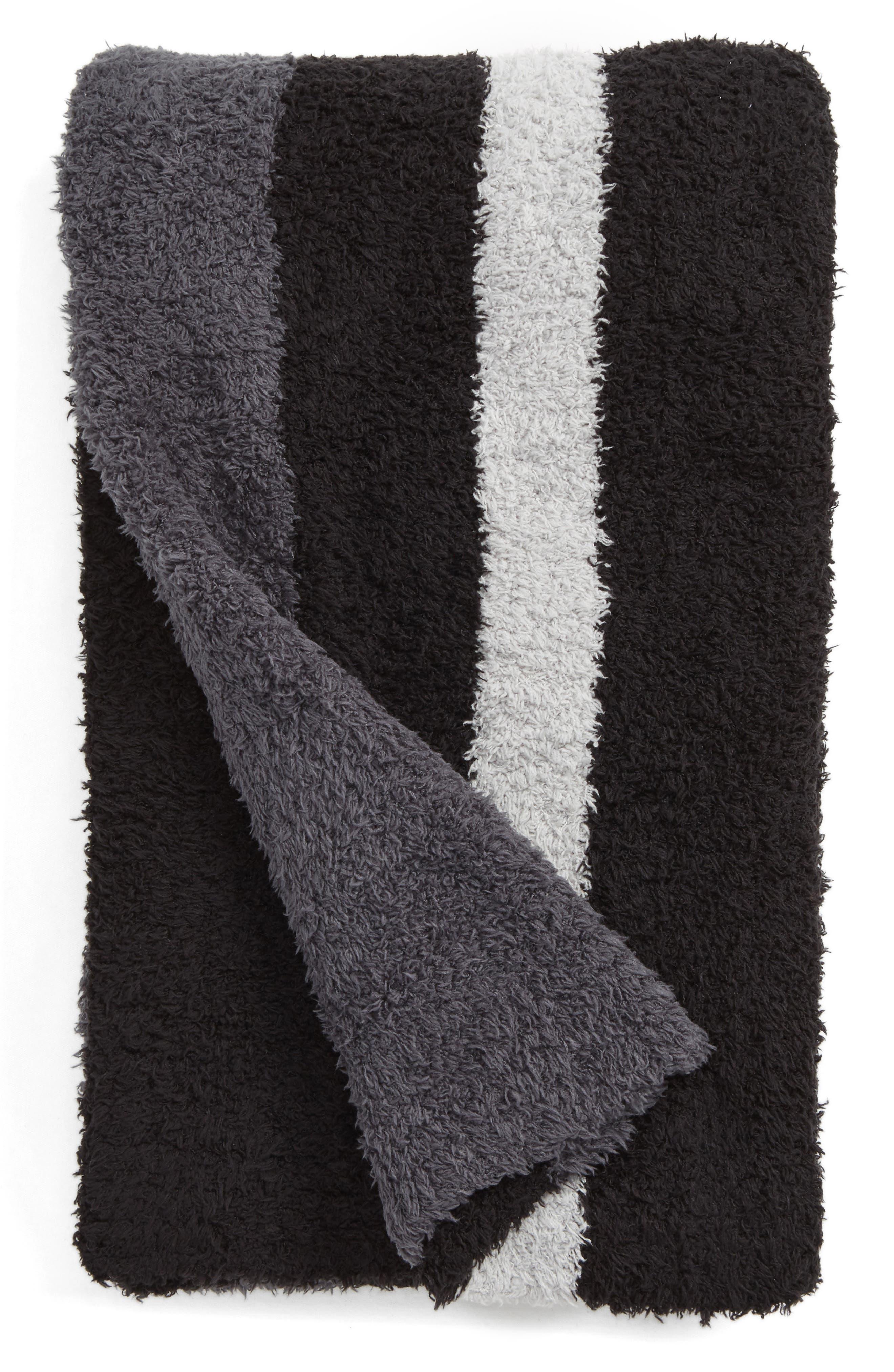 Alternate Image 1 Selected - Barefoot Dreams® Cozychic® Block Stripe Throw Blanket