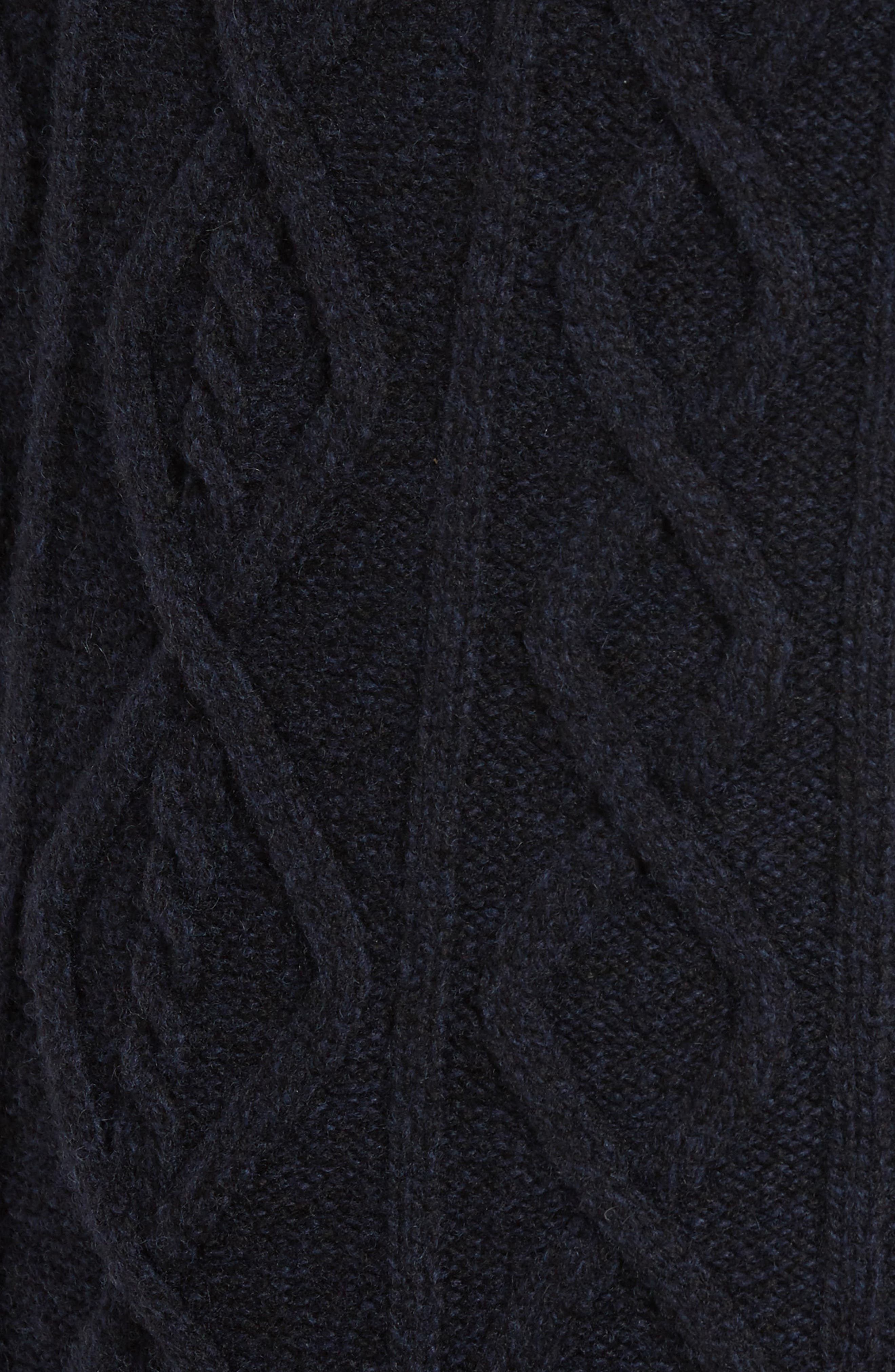 Cape Scoresby Wool Sweater,                             Alternate thumbnail 5, color,                             Navy
