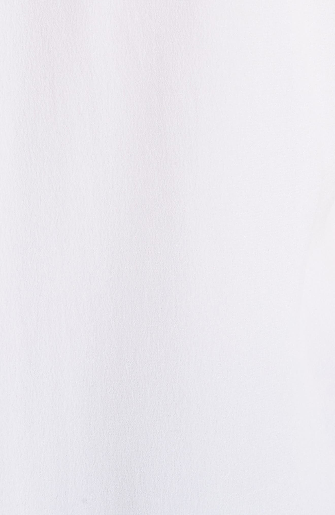 Essential Bow Tie Silk Shirt,                             Alternate thumbnail 5, color,                             Bright White
