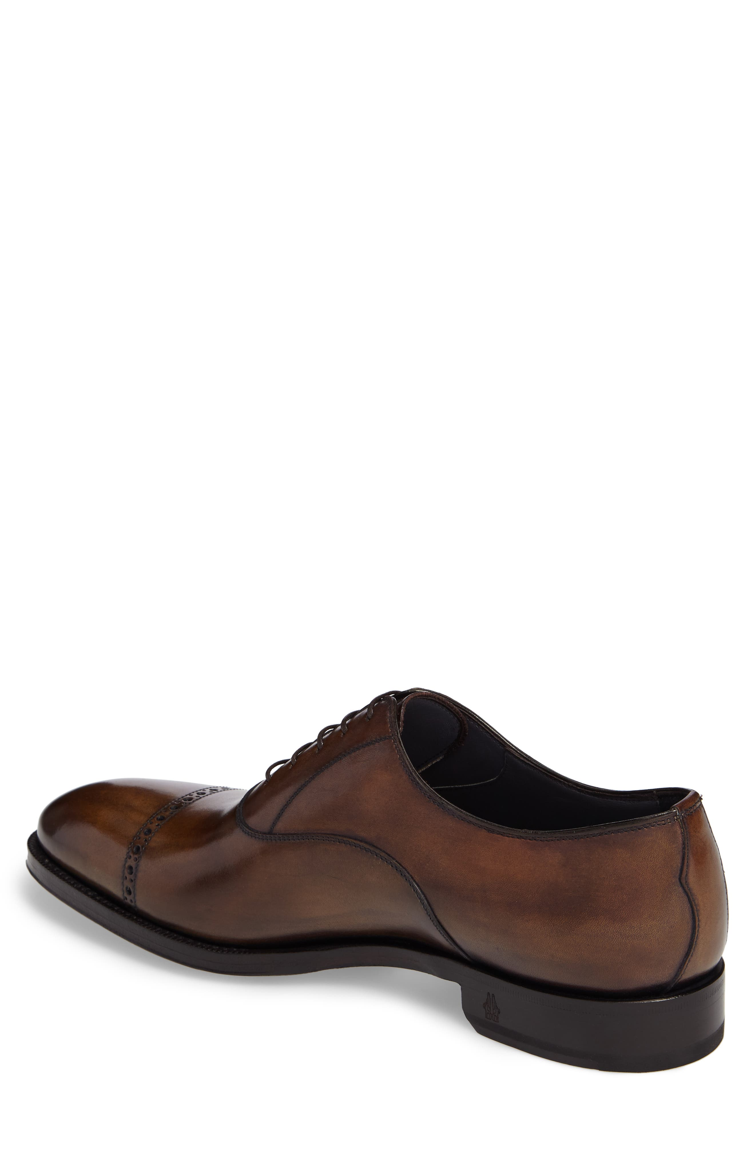 DiGallo Bianco Cap Toe Oxford,                             Alternate thumbnail 2, color,                             Zenzero Leather