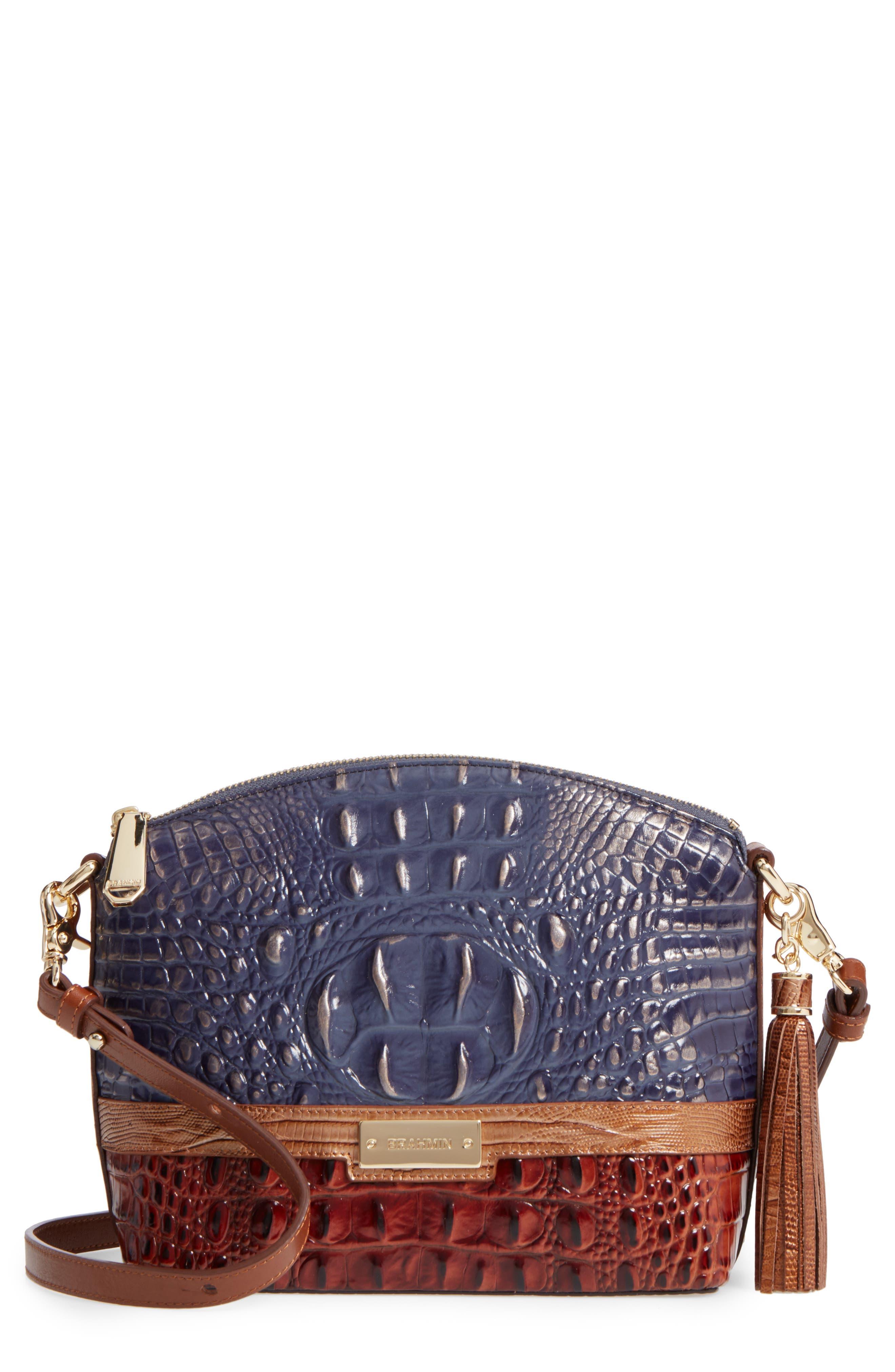 Brahmin Andesite Lucino - Mini Duxbury Leather Crossbody Bag