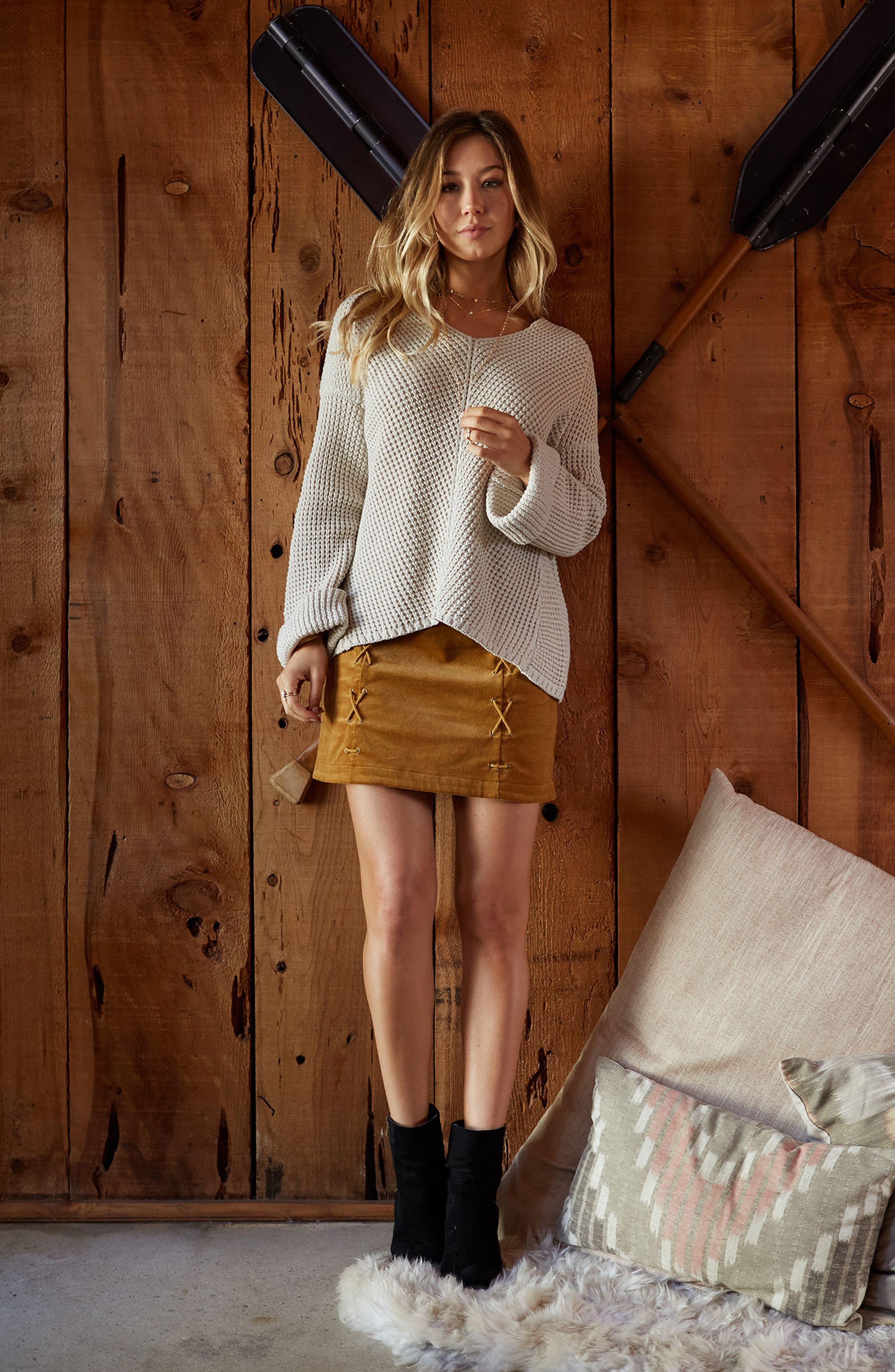 Adelia Bell Sleeve Sweater,                             Alternate thumbnail 6, color,                             Creme