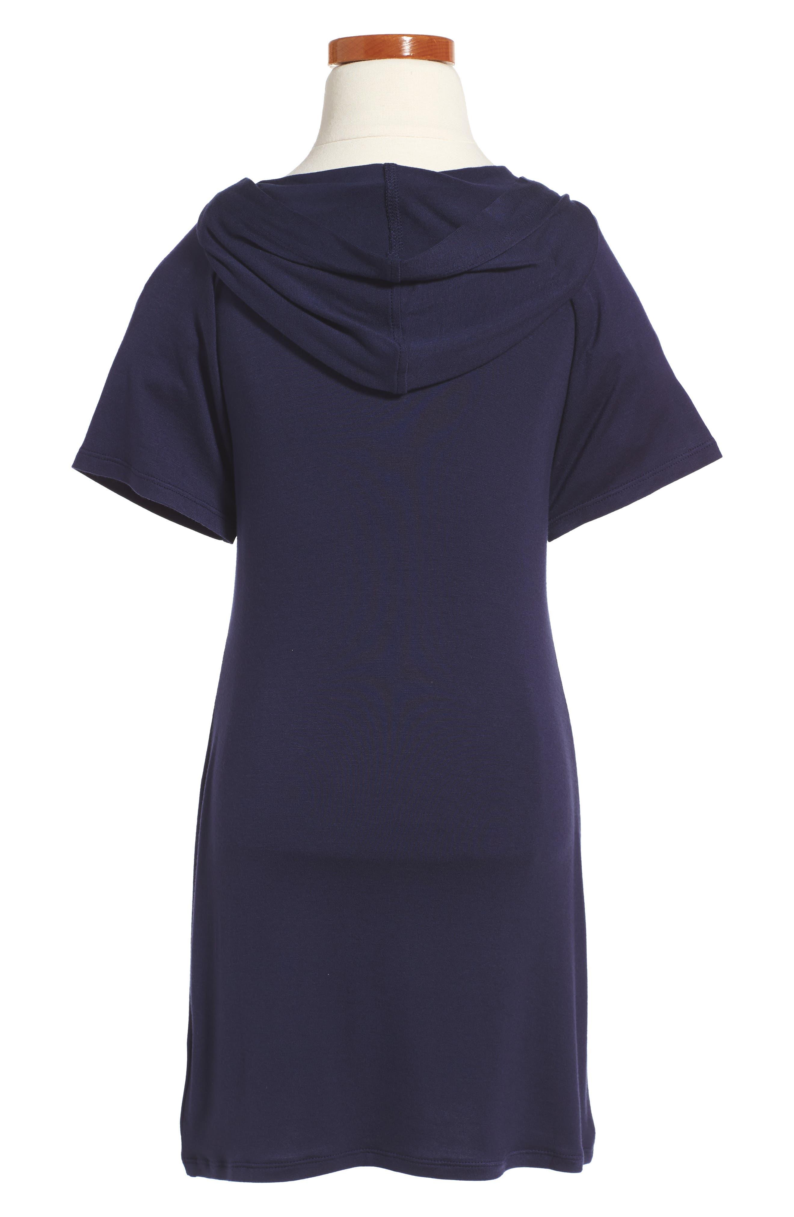 Knit Hoodie Dress,                             Alternate thumbnail 2, color,                             Eclipse
