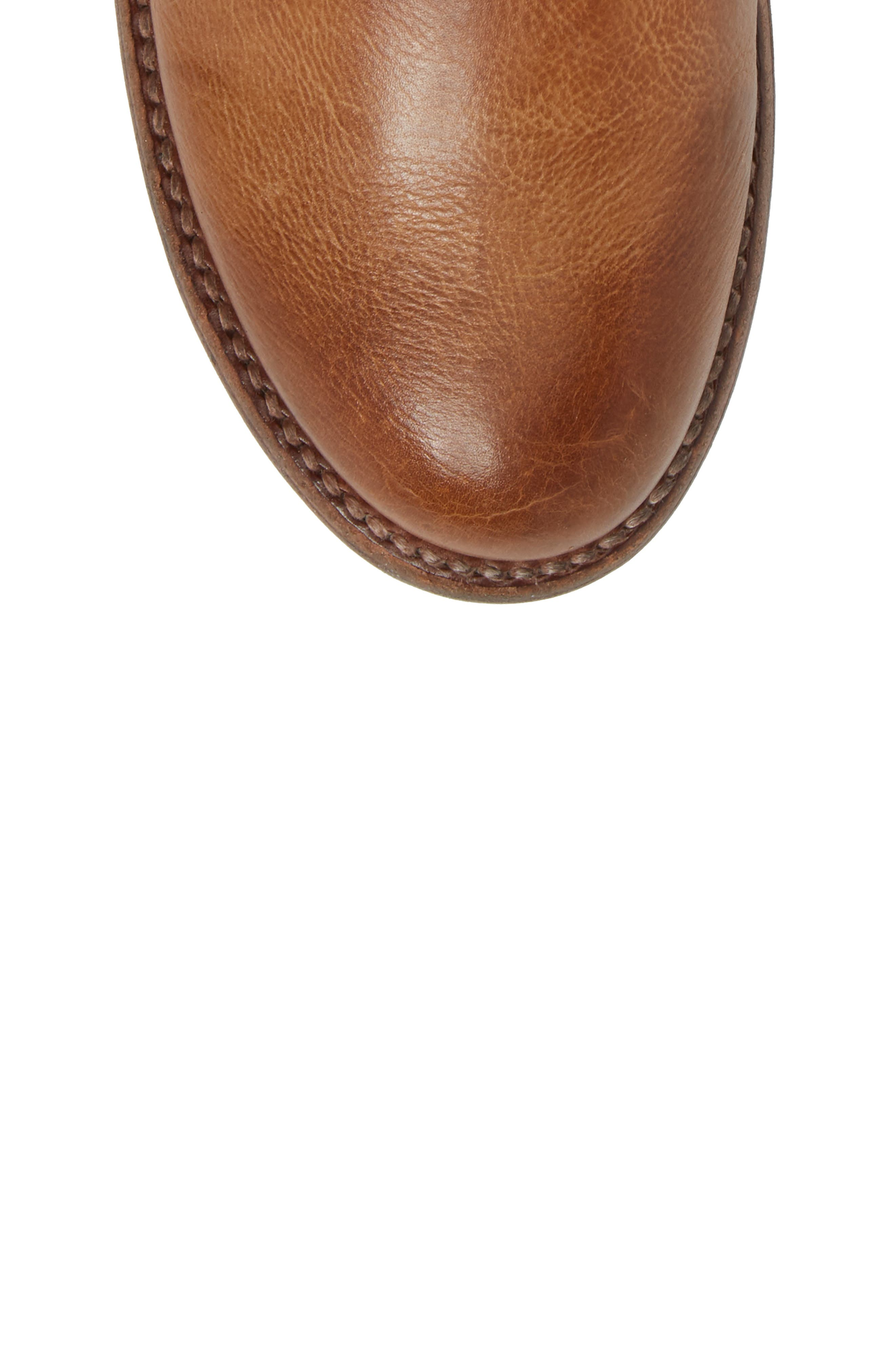 Becca Buckle Boot,                             Alternate thumbnail 5, color,                             Tan Rustic Leather
