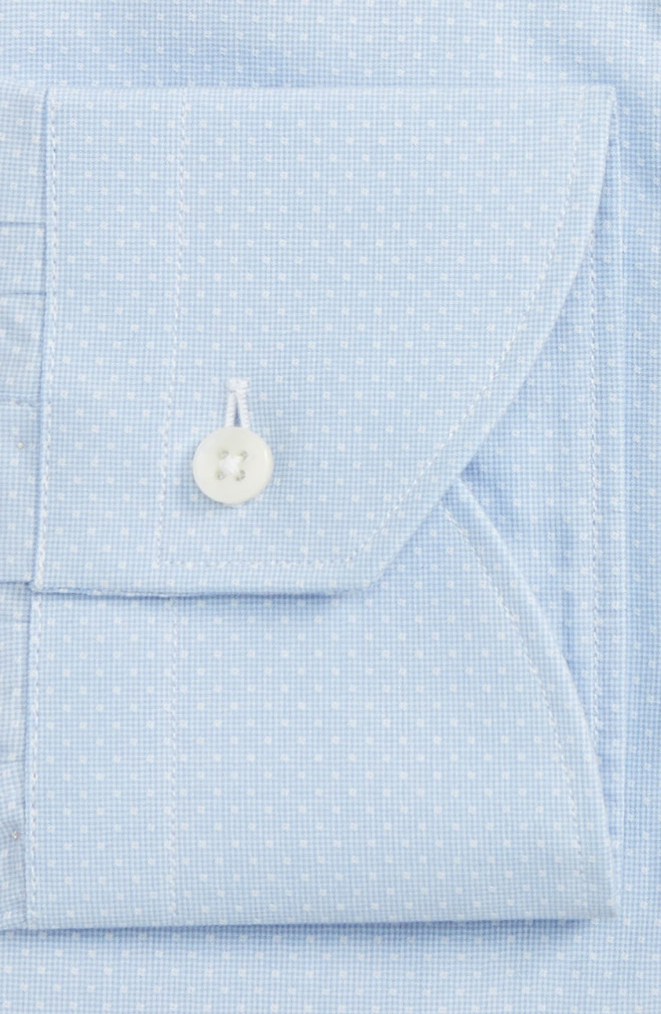 Regular Fit Check Dress Shirt,                             Alternate thumbnail 2, color,                             Light Blue