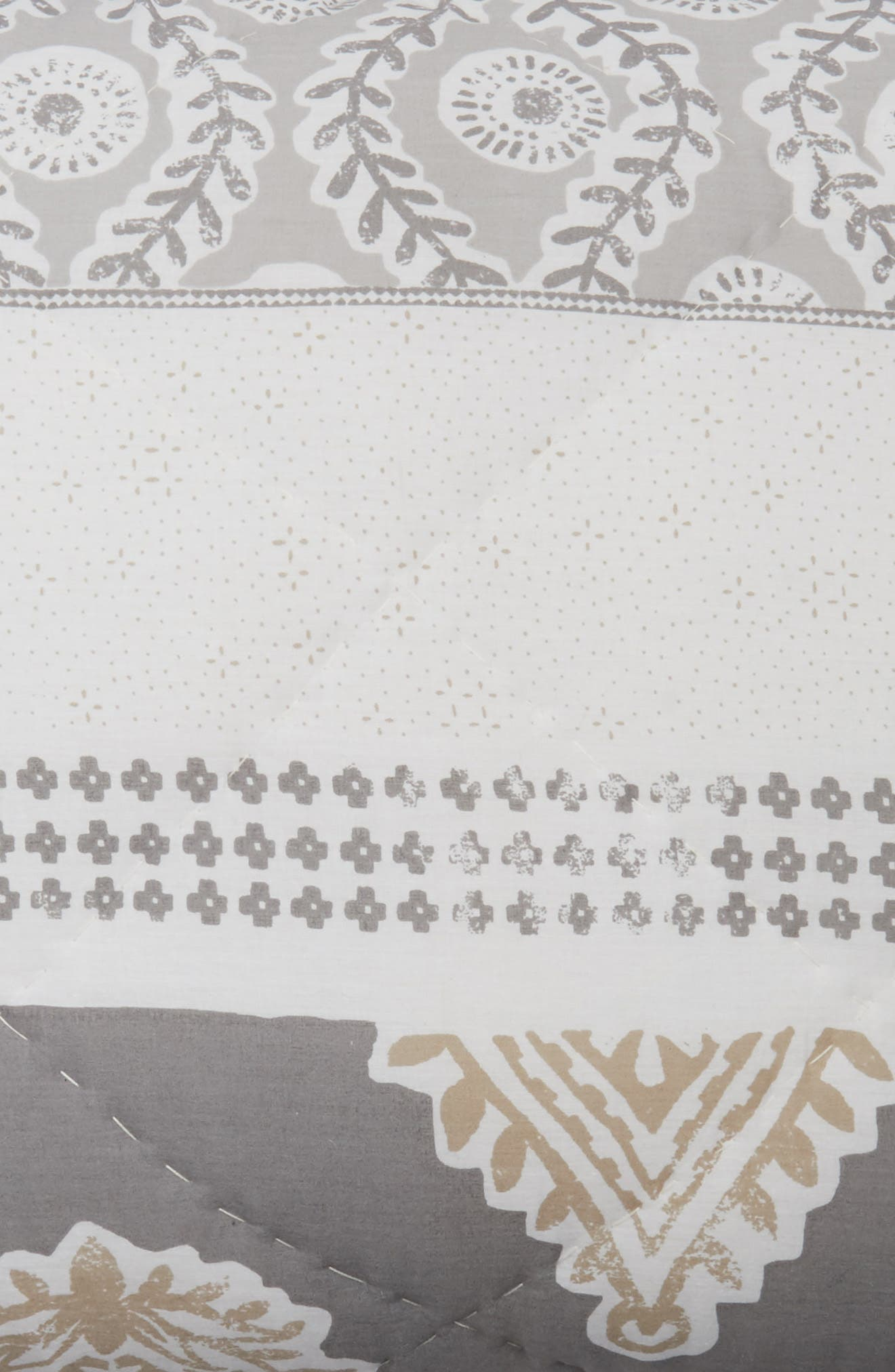 Block Print Sham,                             Alternate thumbnail 3, color,                             White Multi