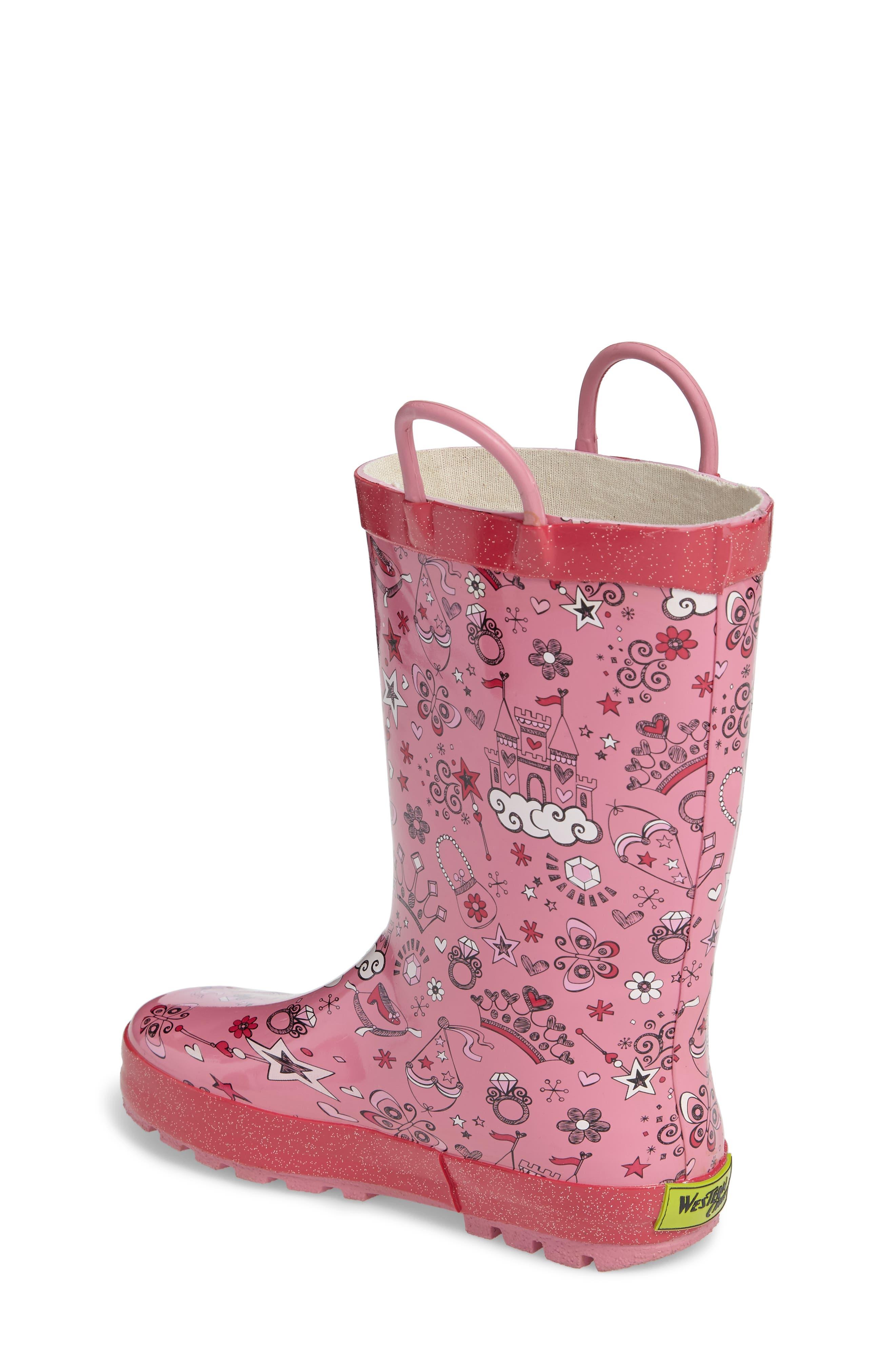 Fairy Tale Rain Boot,                             Alternate thumbnail 2, color,                             Pink