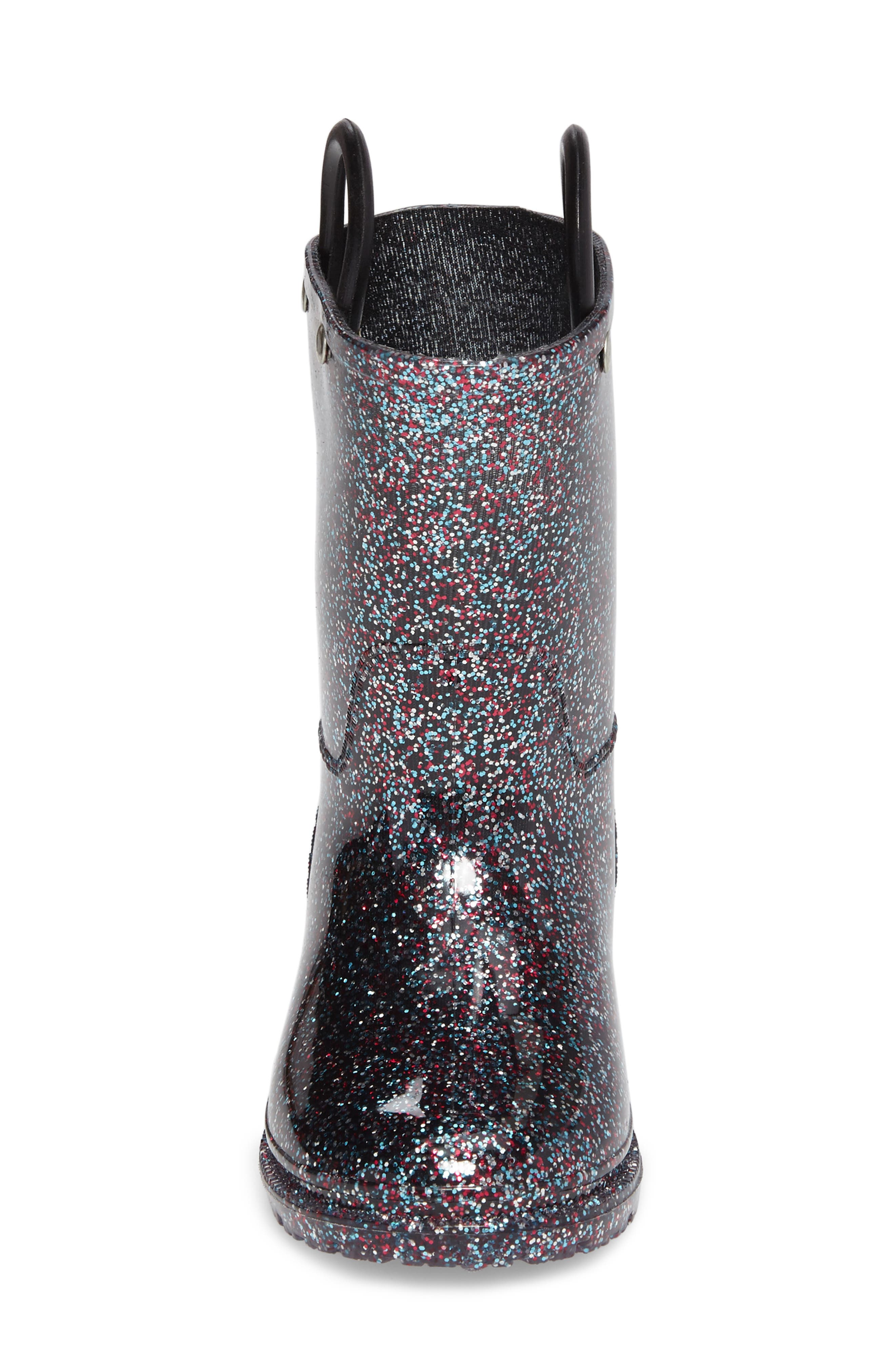 Glitter Rain Boot,                             Alternate thumbnail 4, color,                             Multi