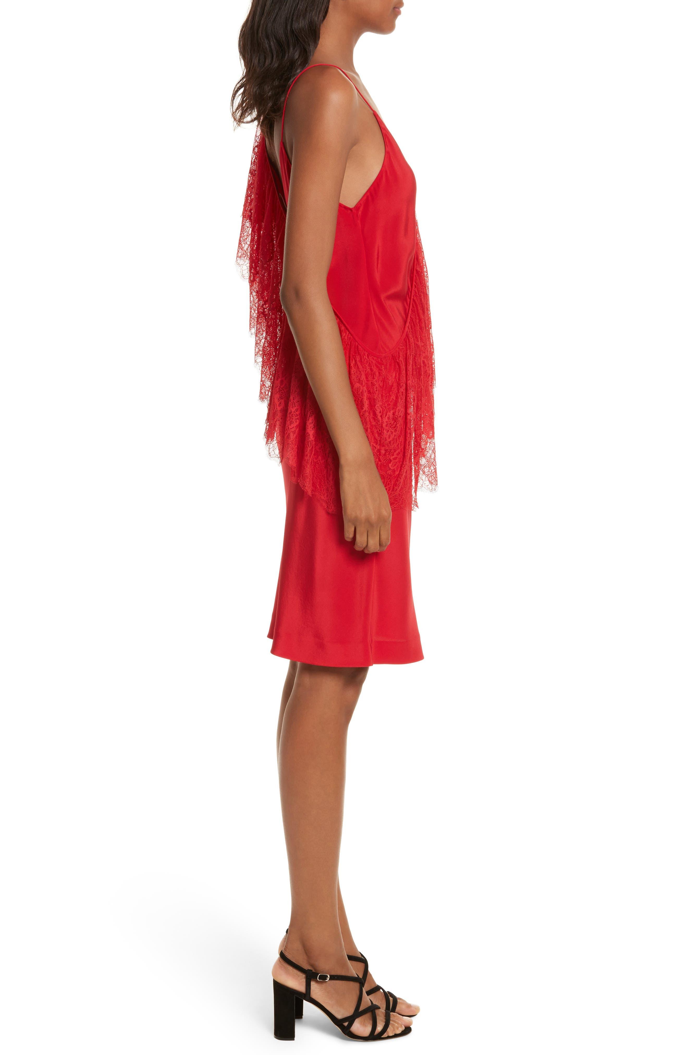 Alternate Image 3  - Diane von Furstenberg Ruffle Front Lace Dress