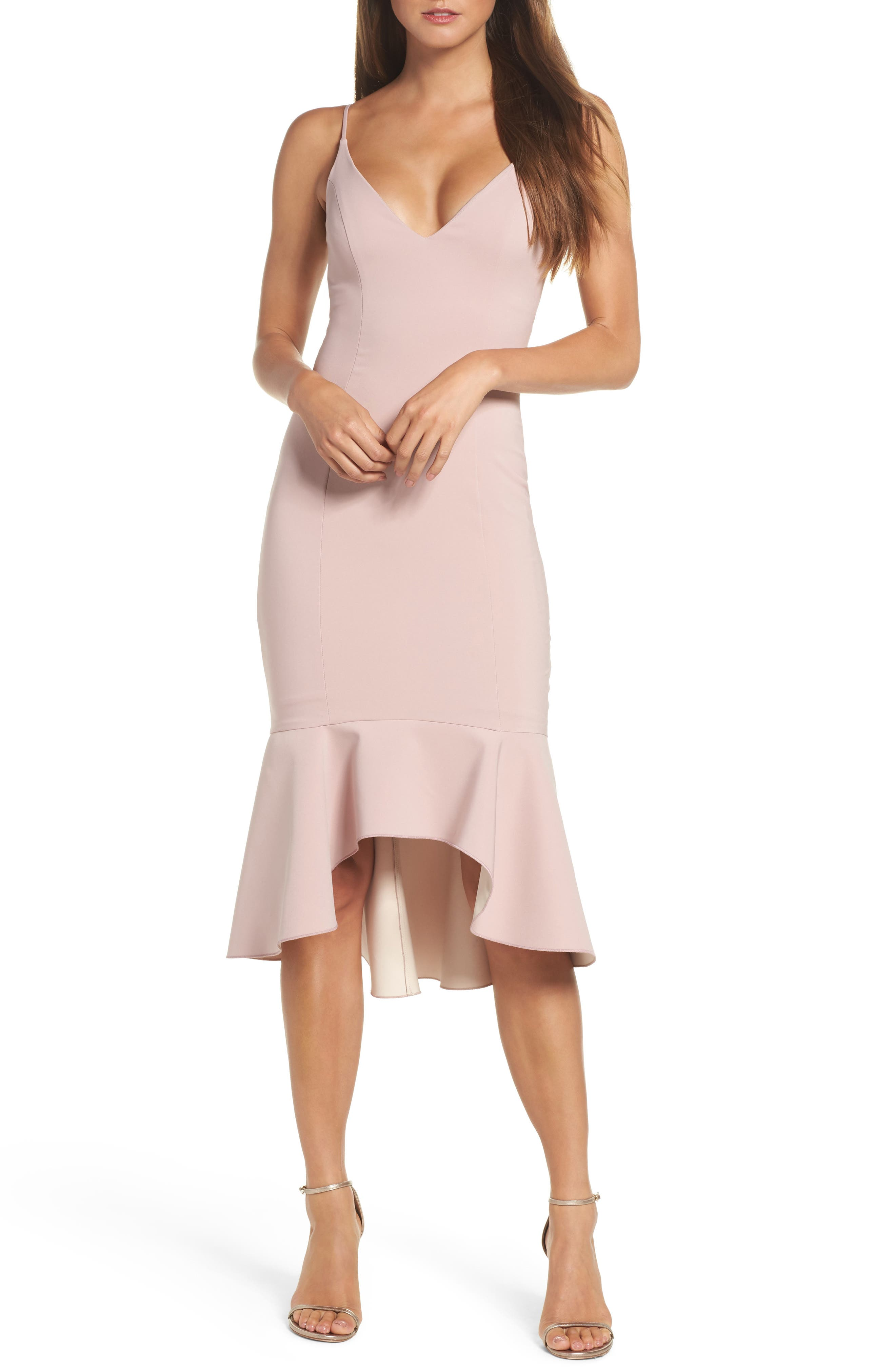 Maria Bianca Nero Christy Flounce High/Low Slipdress
