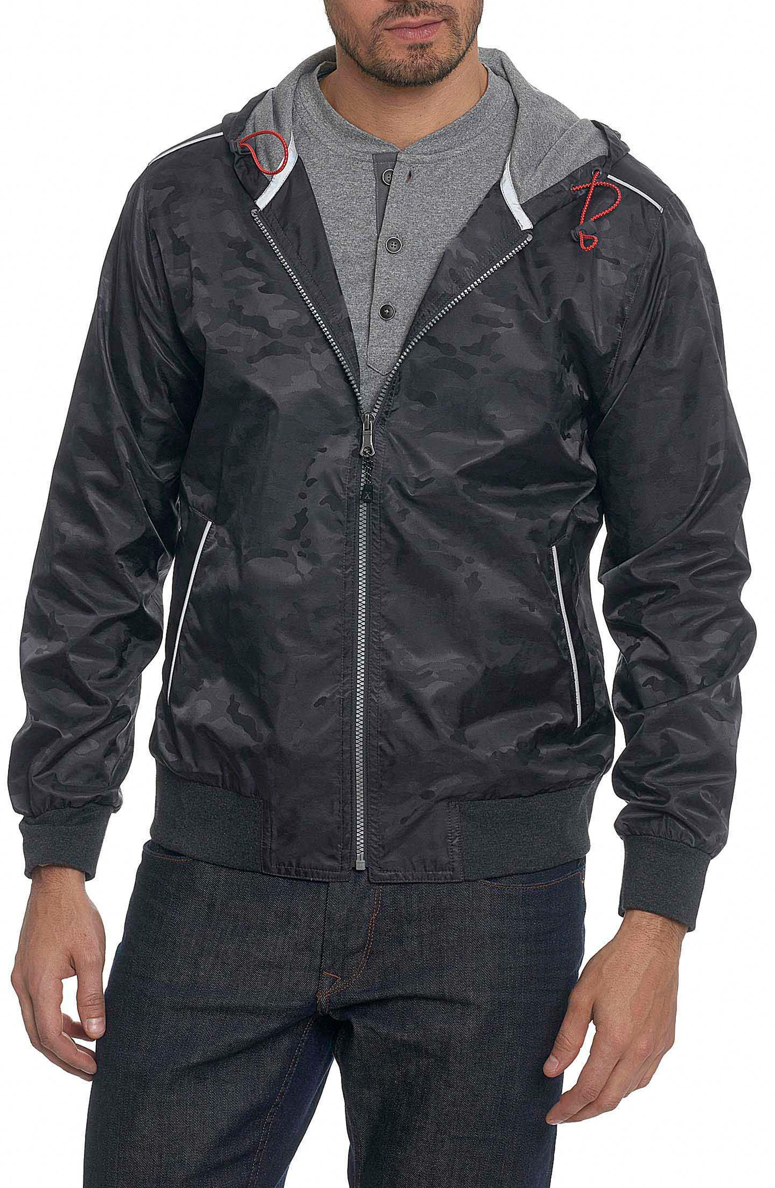 Peekskill Tailored Fit Jacket,                             Main thumbnail 1, color,                             Carbon