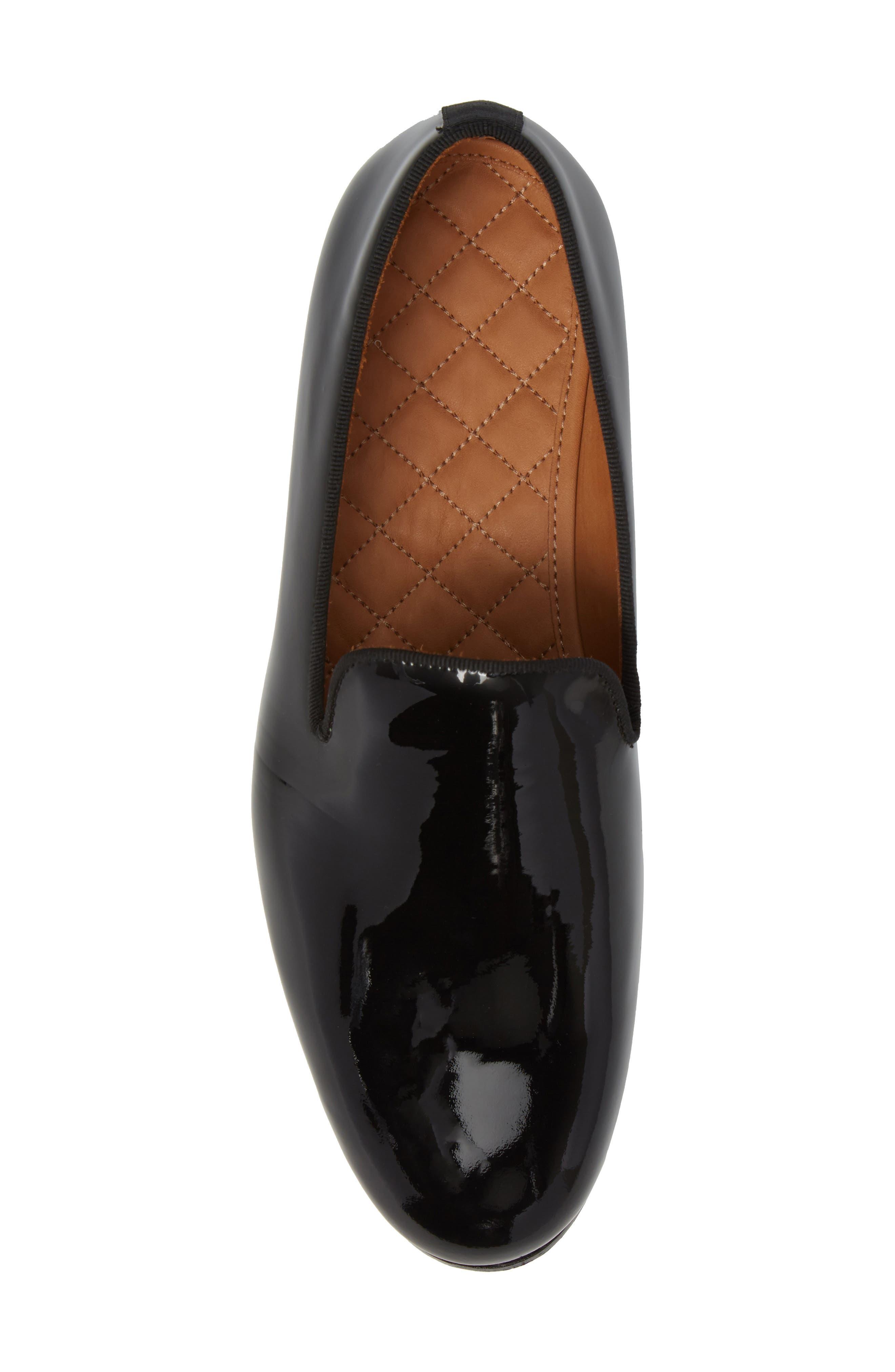 Bravi Loafer,                             Alternate thumbnail 5, color,                             Black Patent Leather
