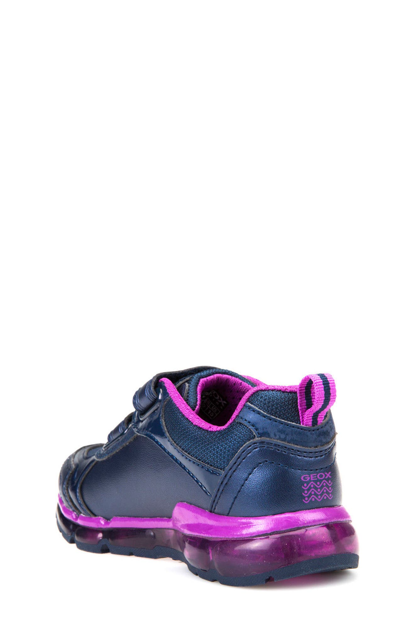 'Jr Android 2' Light-Up Sneaker,                             Alternate thumbnail 2, color,                             Navy/ Purple