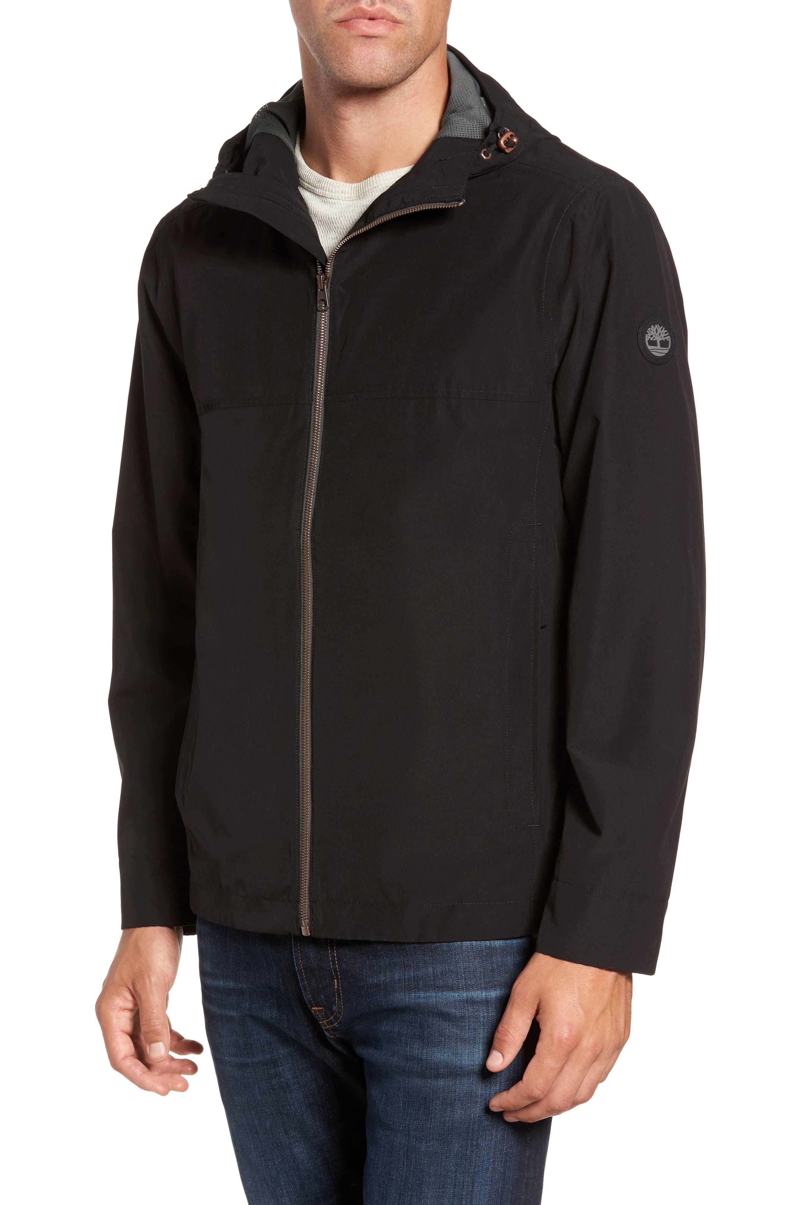 Ragged Mountain Packable Waterproof Jacket,                             Main thumbnail 1, color,                             Black