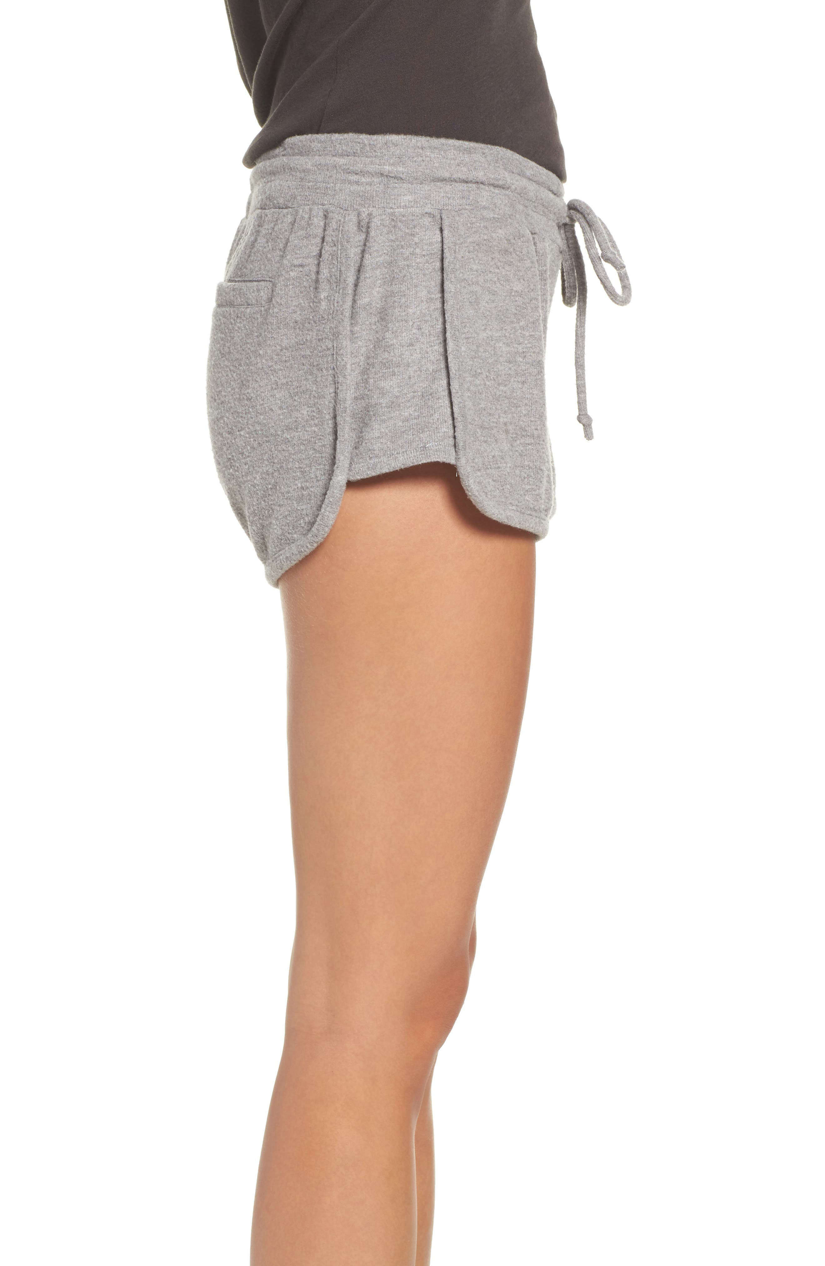 Love Shorts,                             Alternate thumbnail 3, color,                             Heather Grey