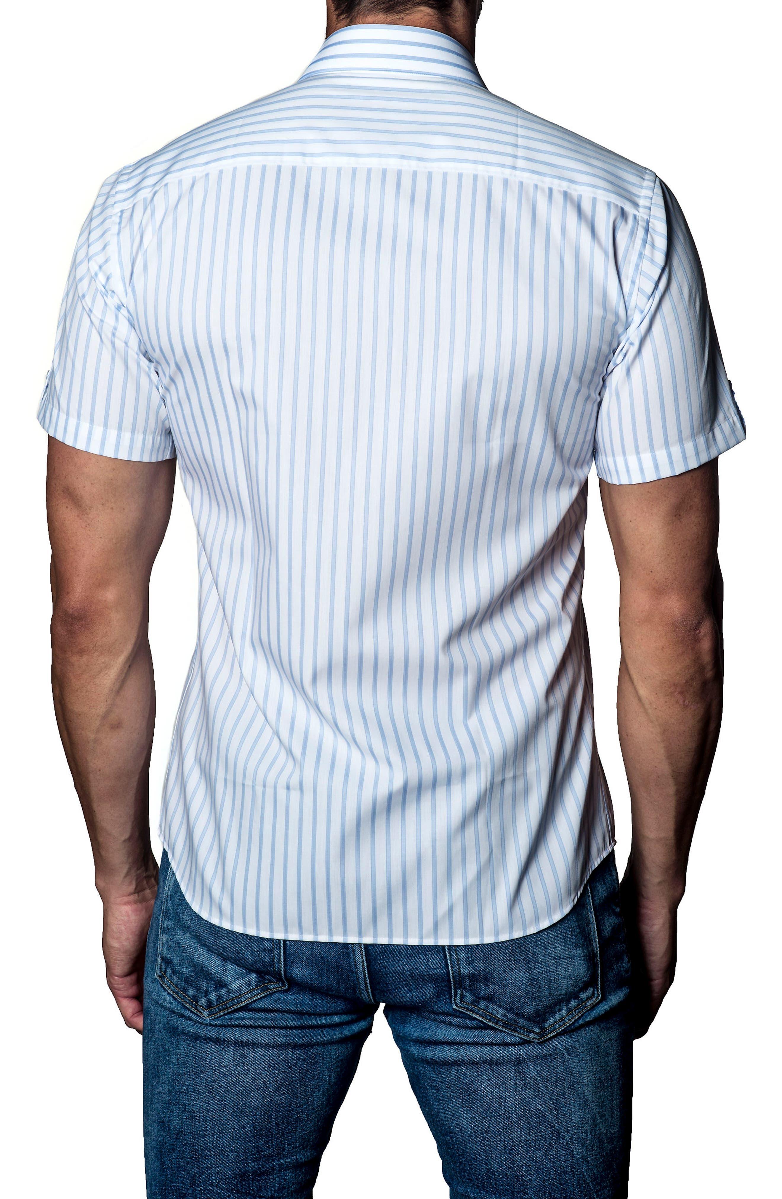Alternate Image 2  - Jared Lang Stripe Sport Shirt