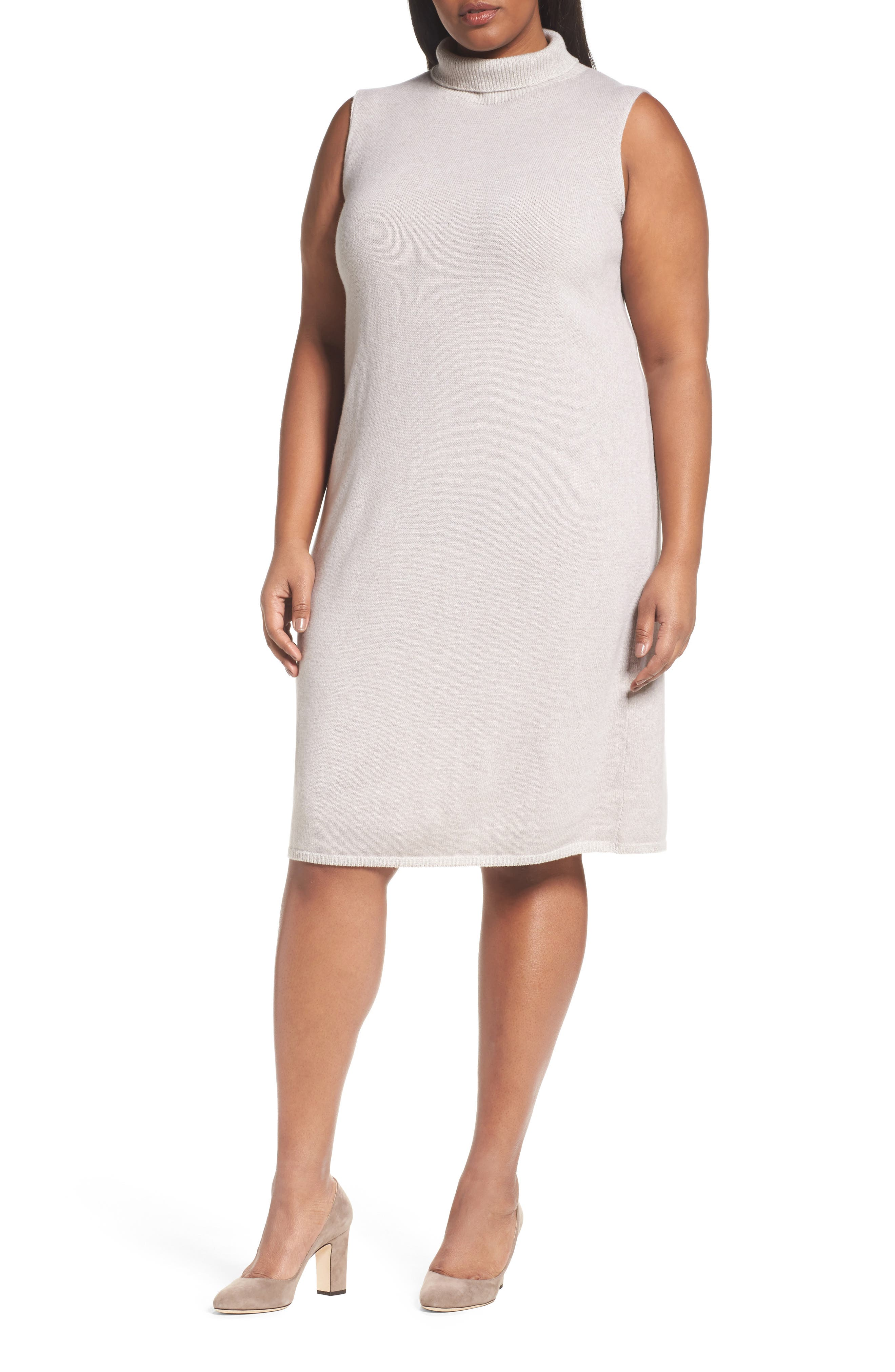 Alternate Image 1 Selected - Lafayette 148 New York Vanise Merino Wool & Cashmere Sweater Dress (Plus Size)