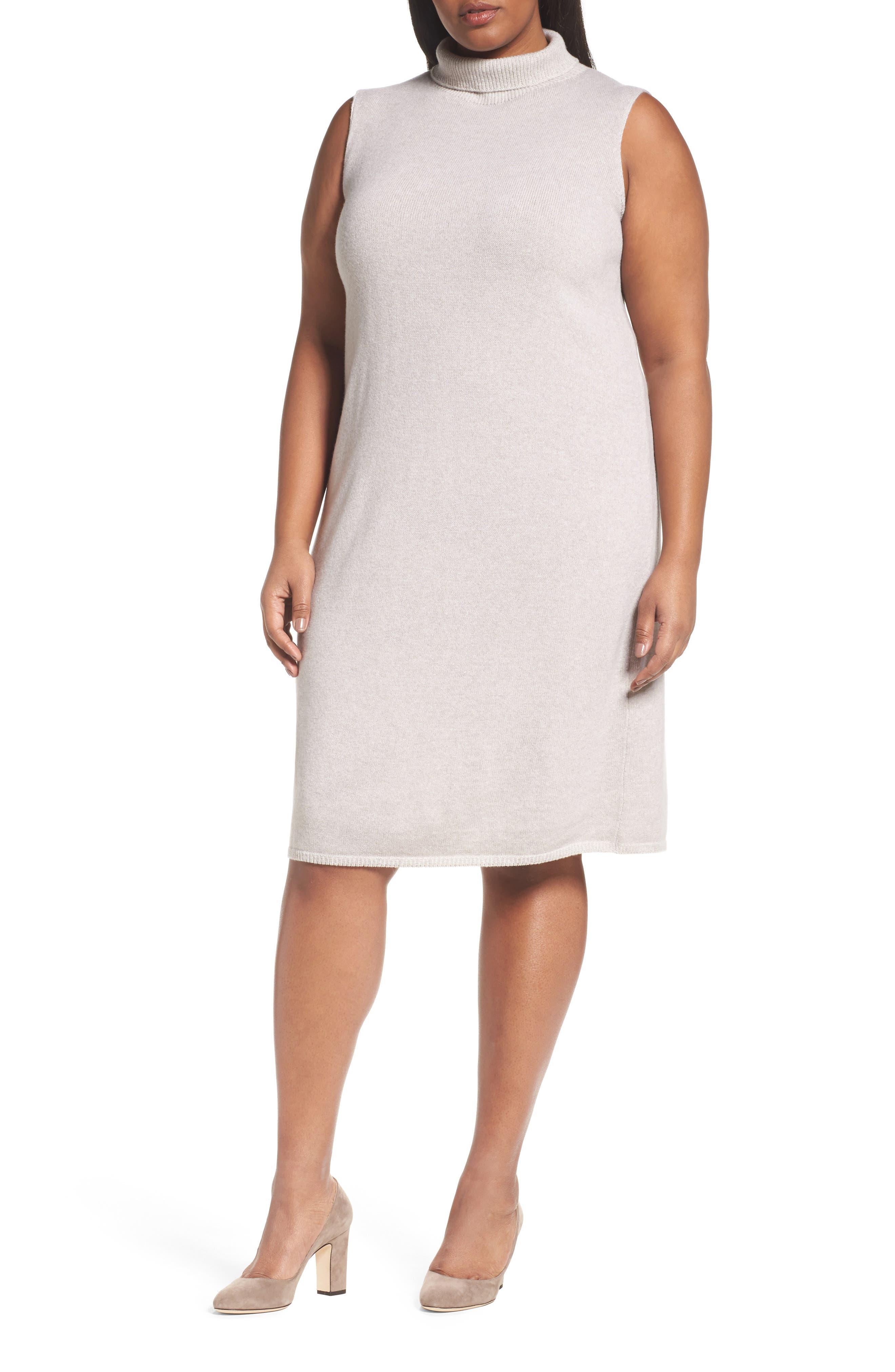 Main Image - Lafayette 148 New York Vanise Merino Wool & Cashmere Sweater Dress (Plus Size)