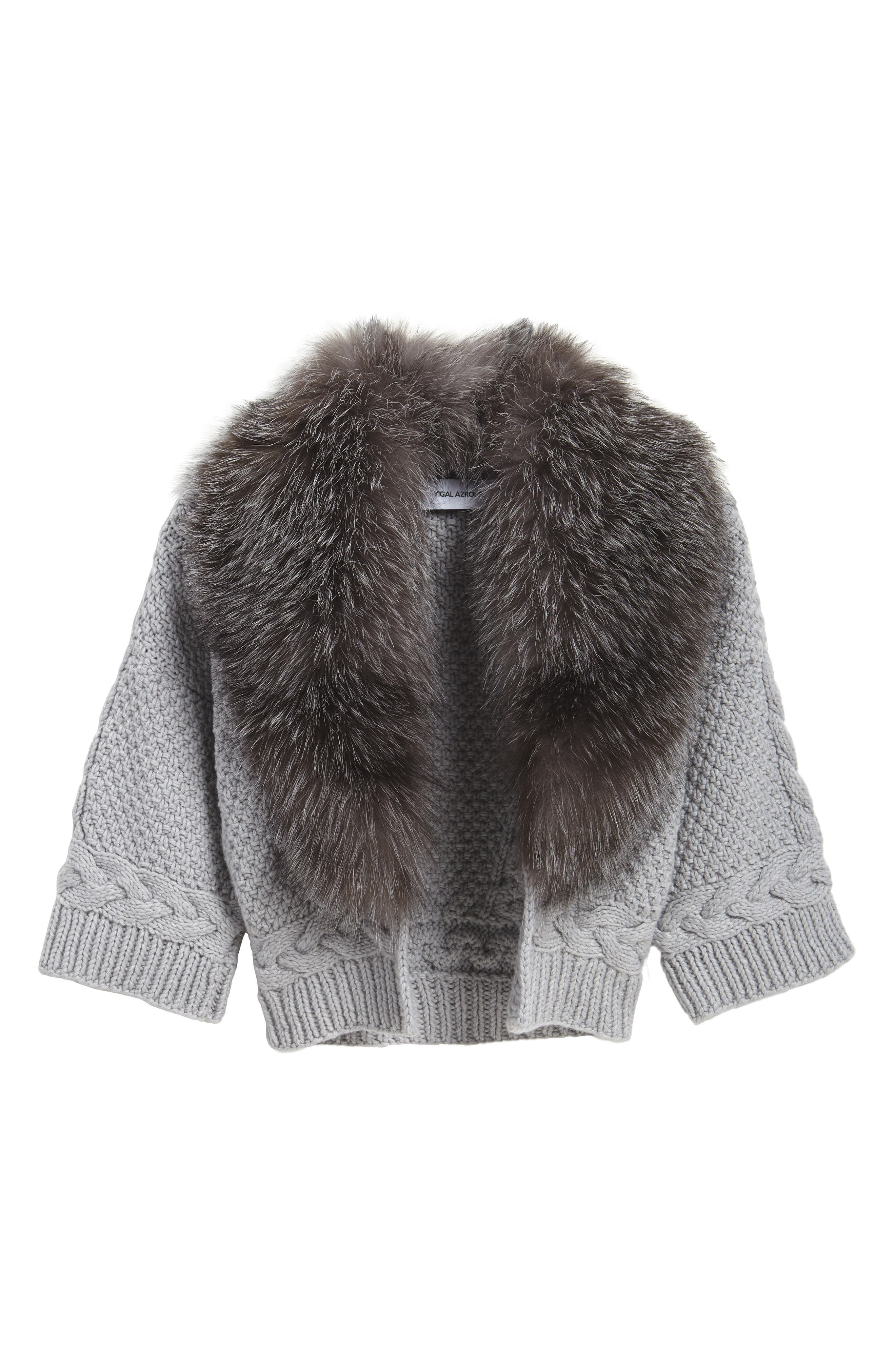 Alternate Image 5  - Yigal Azrouël Merino Wool & Cashmere Knit Bolero with Removable Genuine Fox Fur Collar