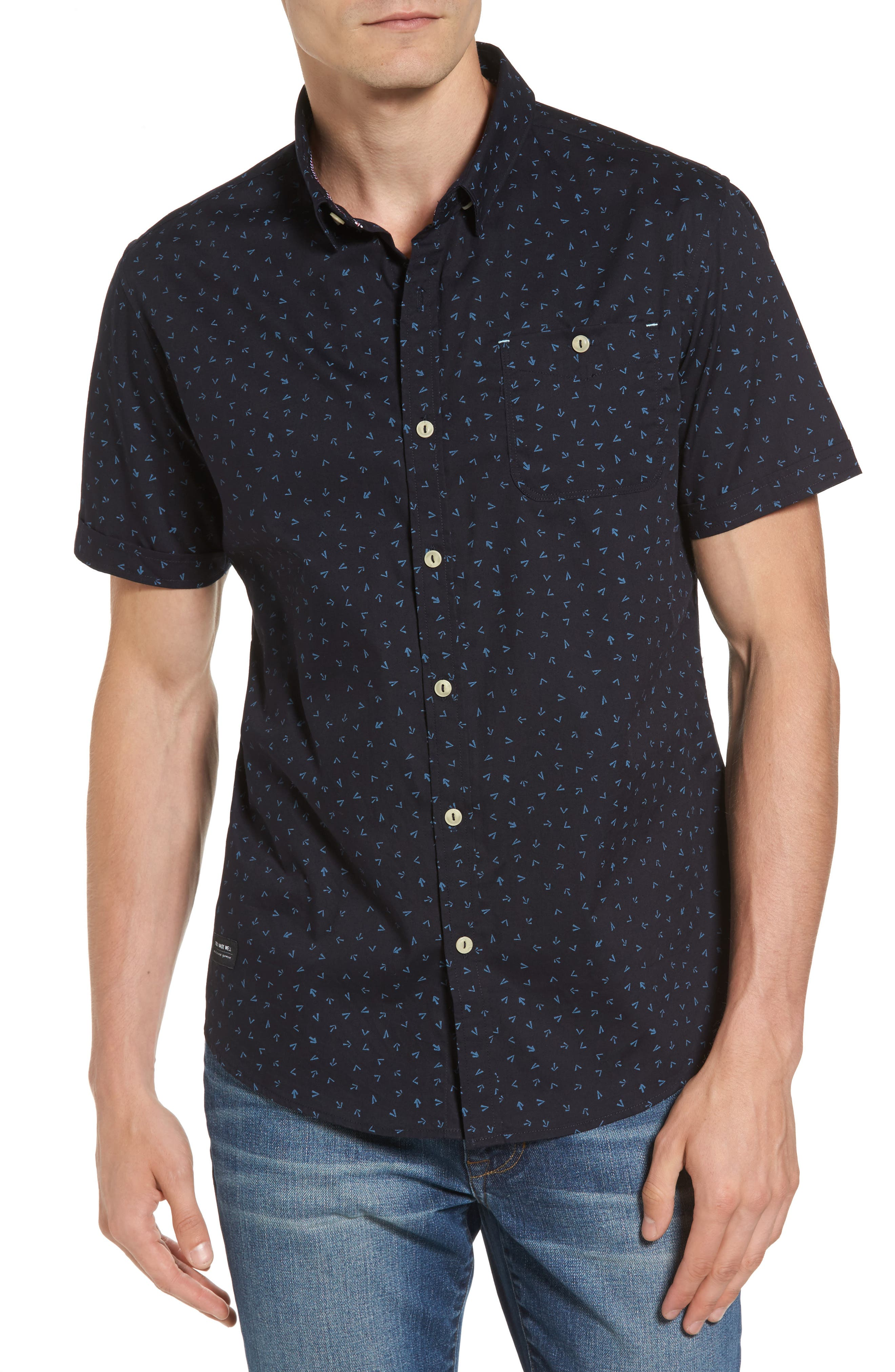 7 DIAMONDS New Tradition Print Woven Shirt