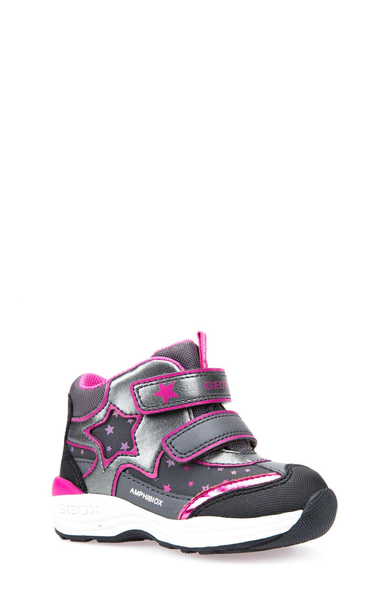 Main Image - Geox Gulp ABX Waterproof Star Sneaker Boot (Walker & Toddler)