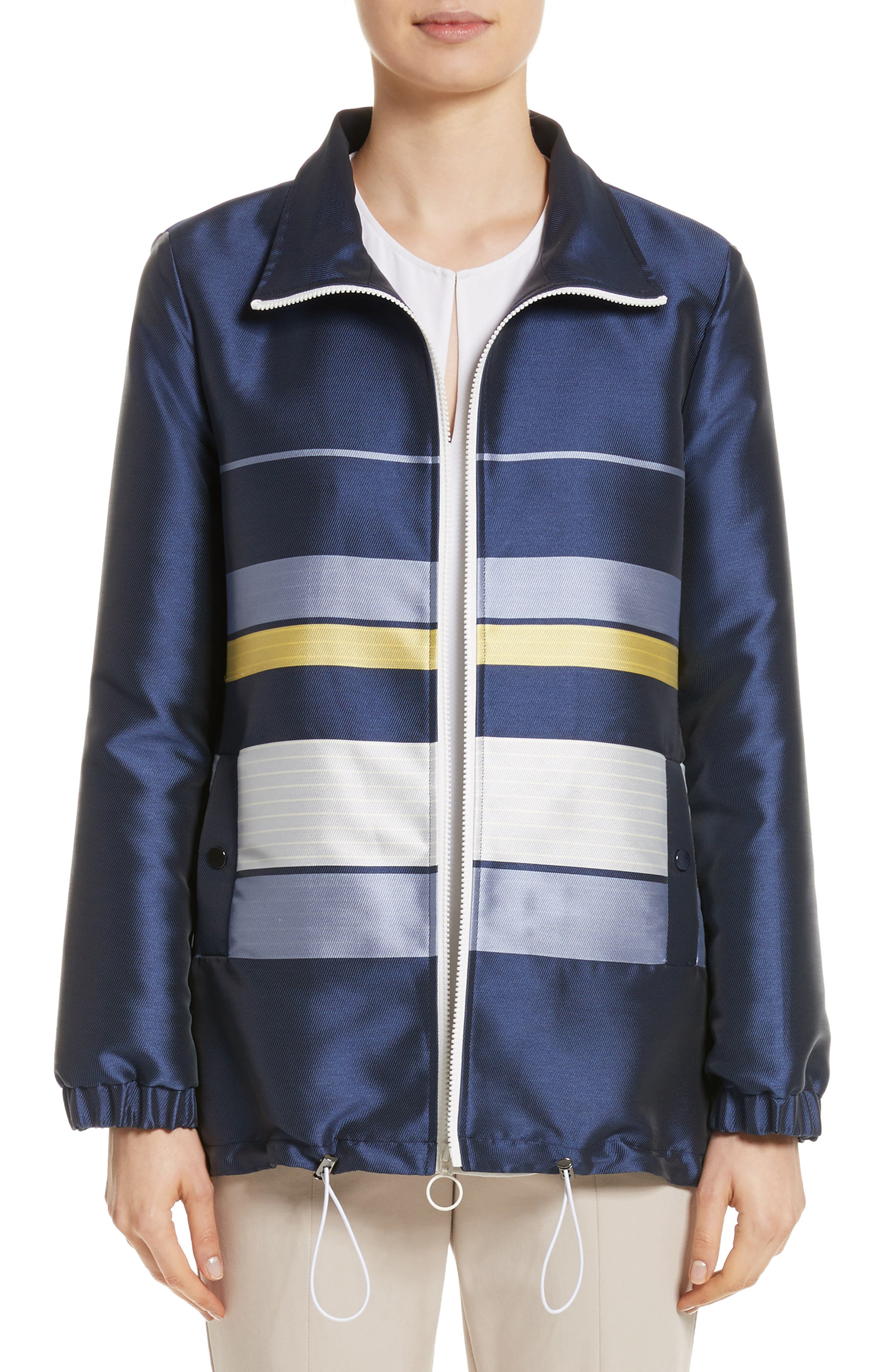 St. John Collection Double Face Stripe Twill Jacket