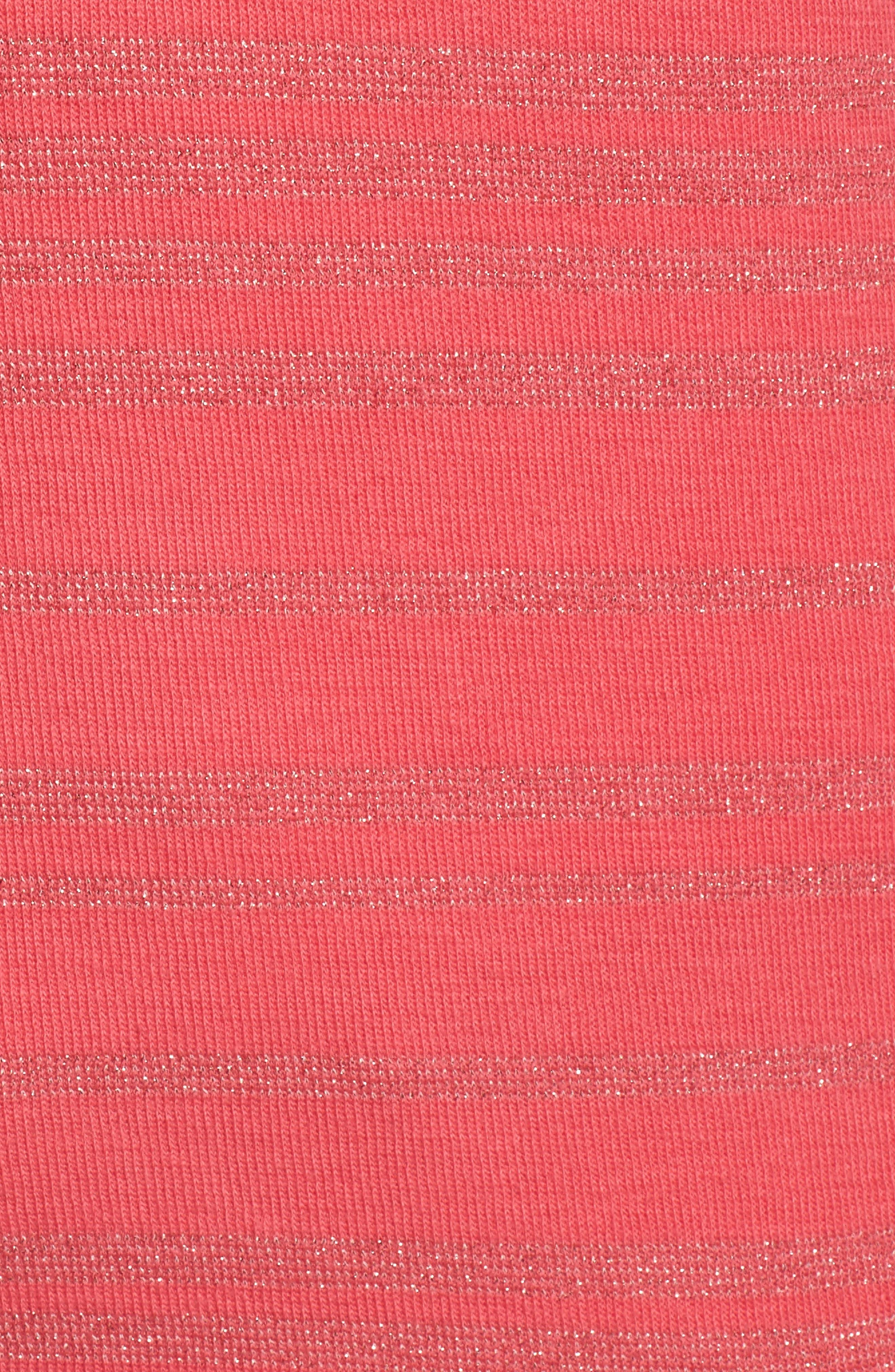 Aruba Shazam Stripe Half-Zip Pullover,                             Alternate thumbnail 5, color,                             Classic Pink