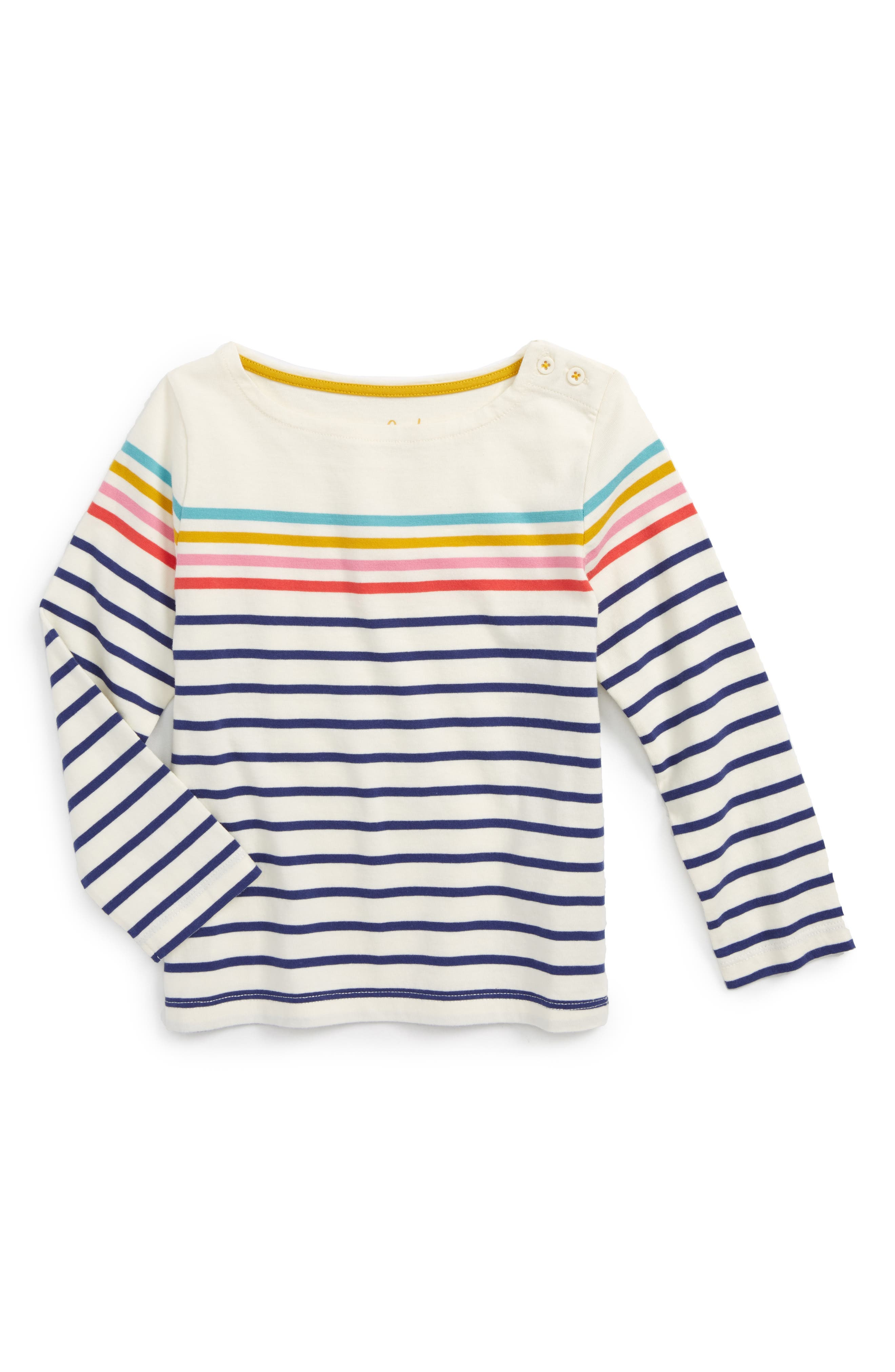 Mini Boden Colourfully Stripy Tee (Toddler Girls, Little Girls & Big Girls)