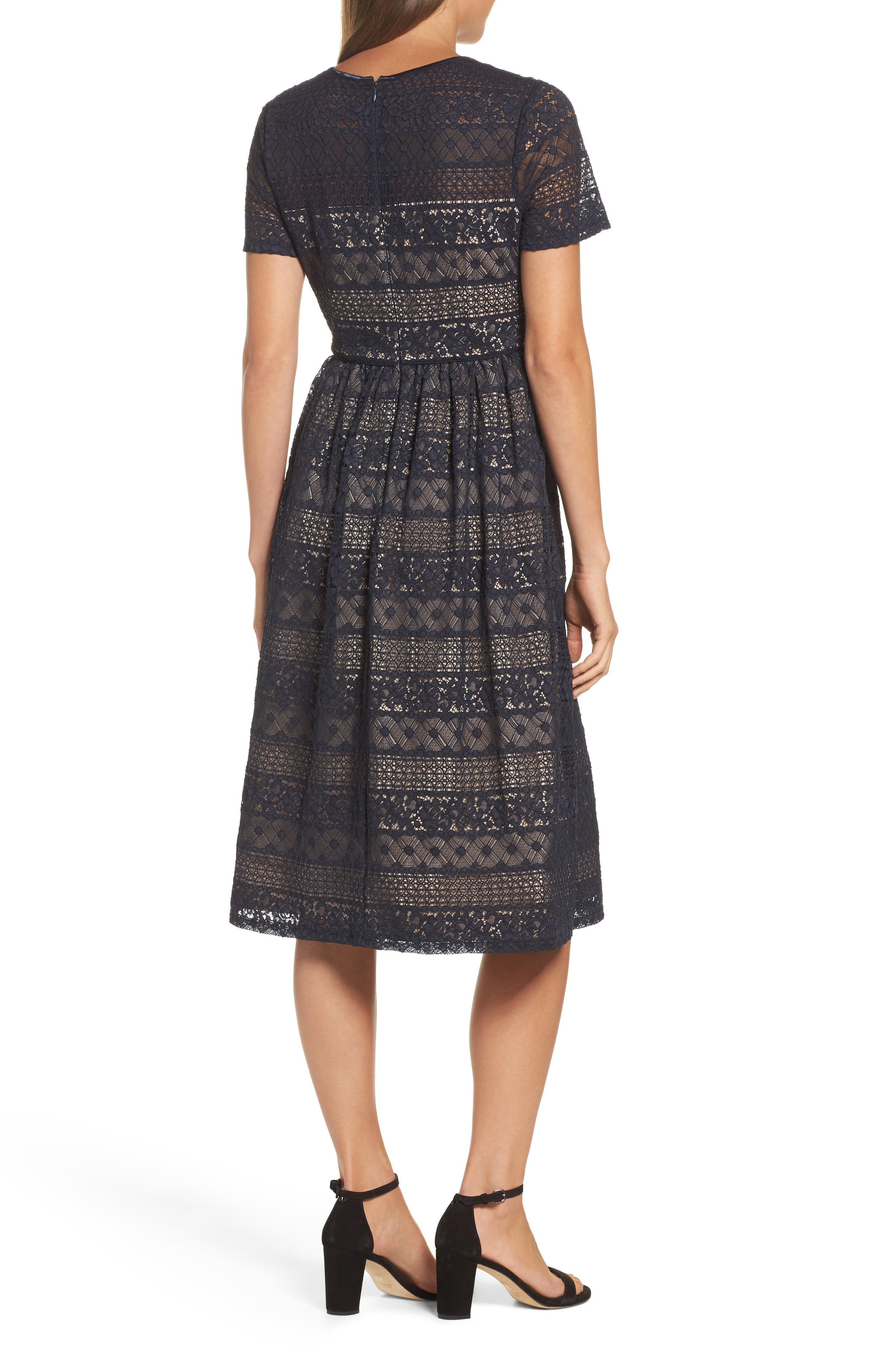 Alternate Image 2  - Maggy London Lace Midi Dress (Regular & Petite)