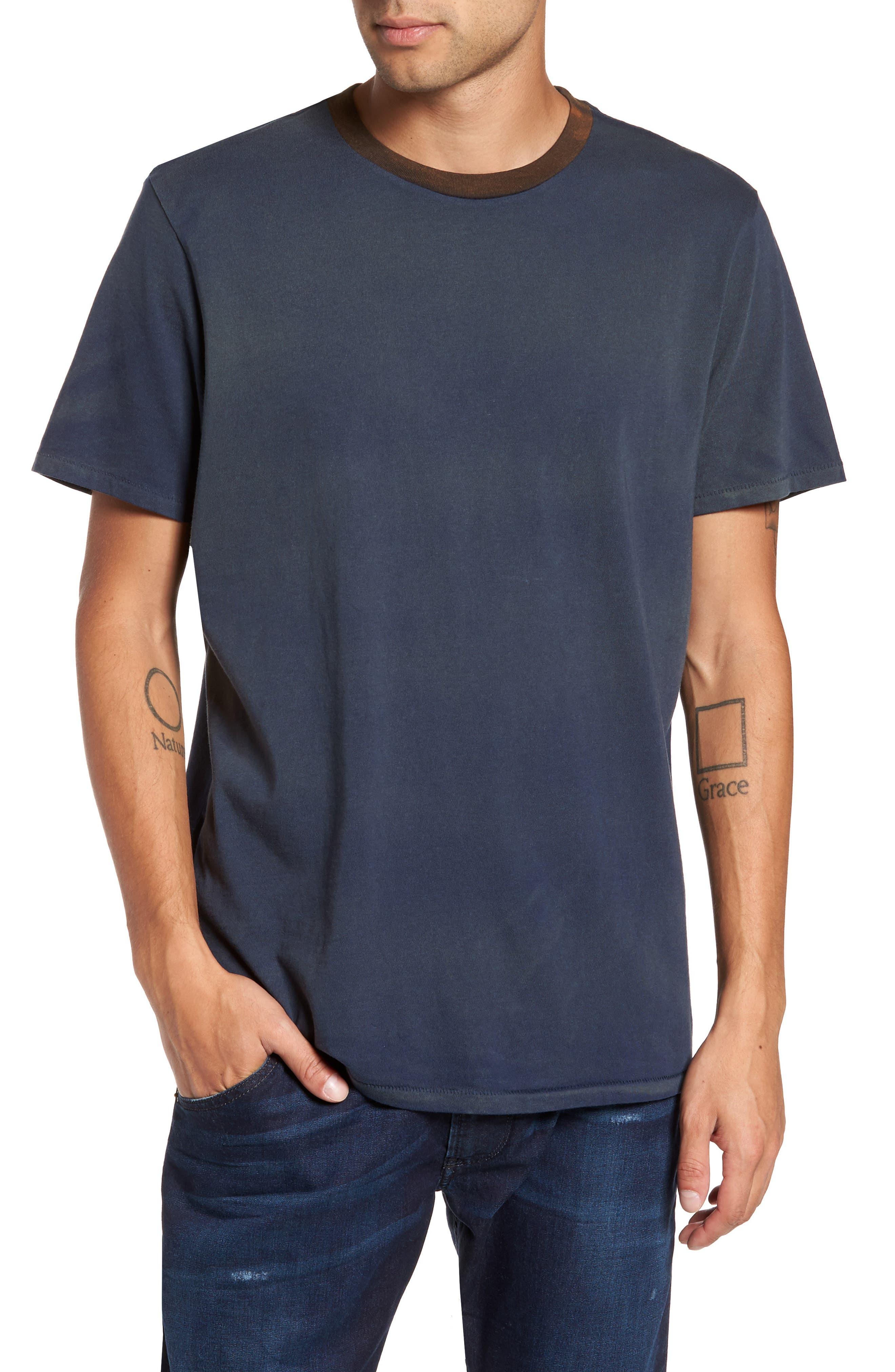 Two-Tone T-Shirt,                         Main,                         color, Navy Peacoat