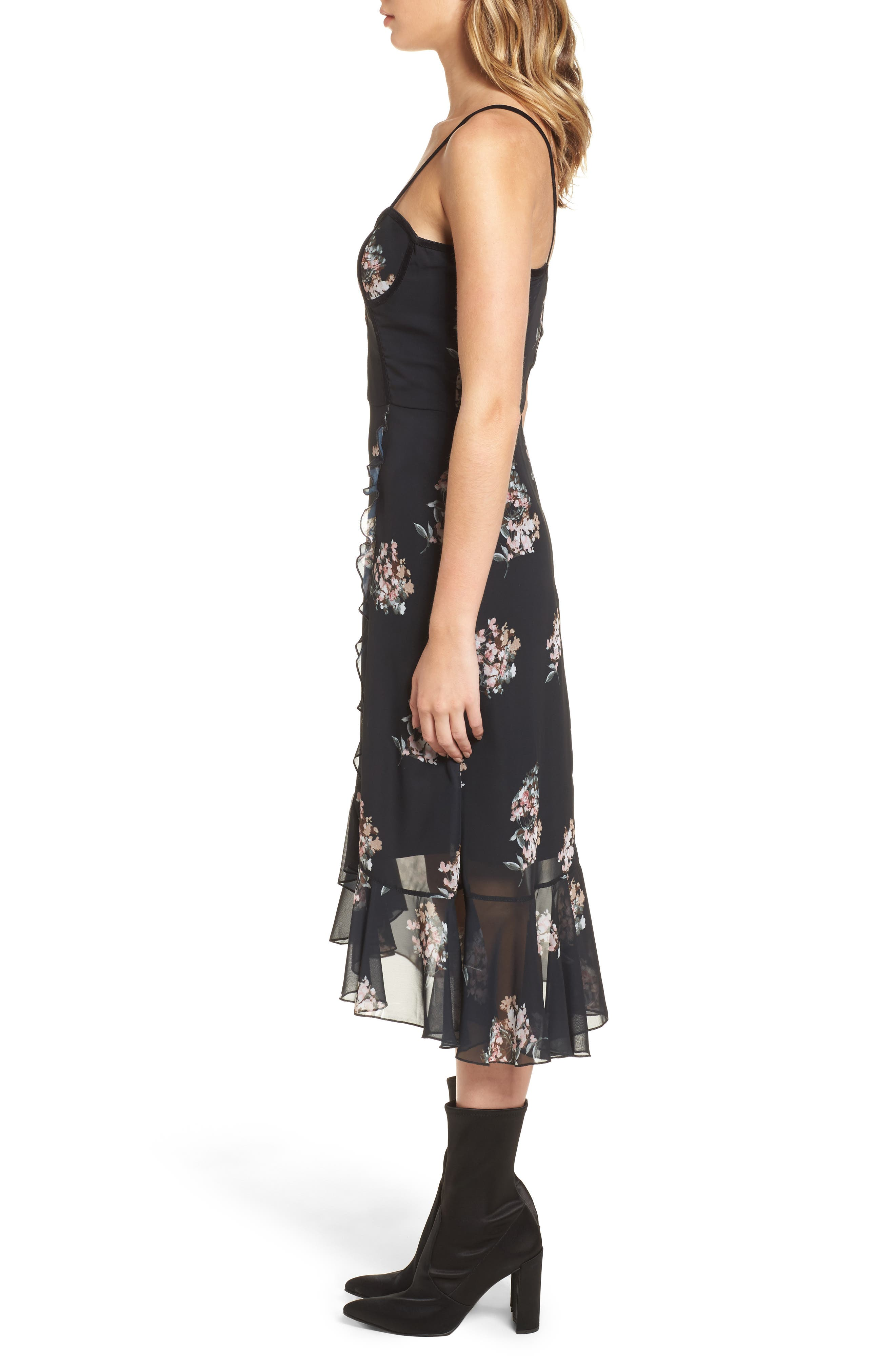 Alternate Image 3  - Leith Floral Corset Dress